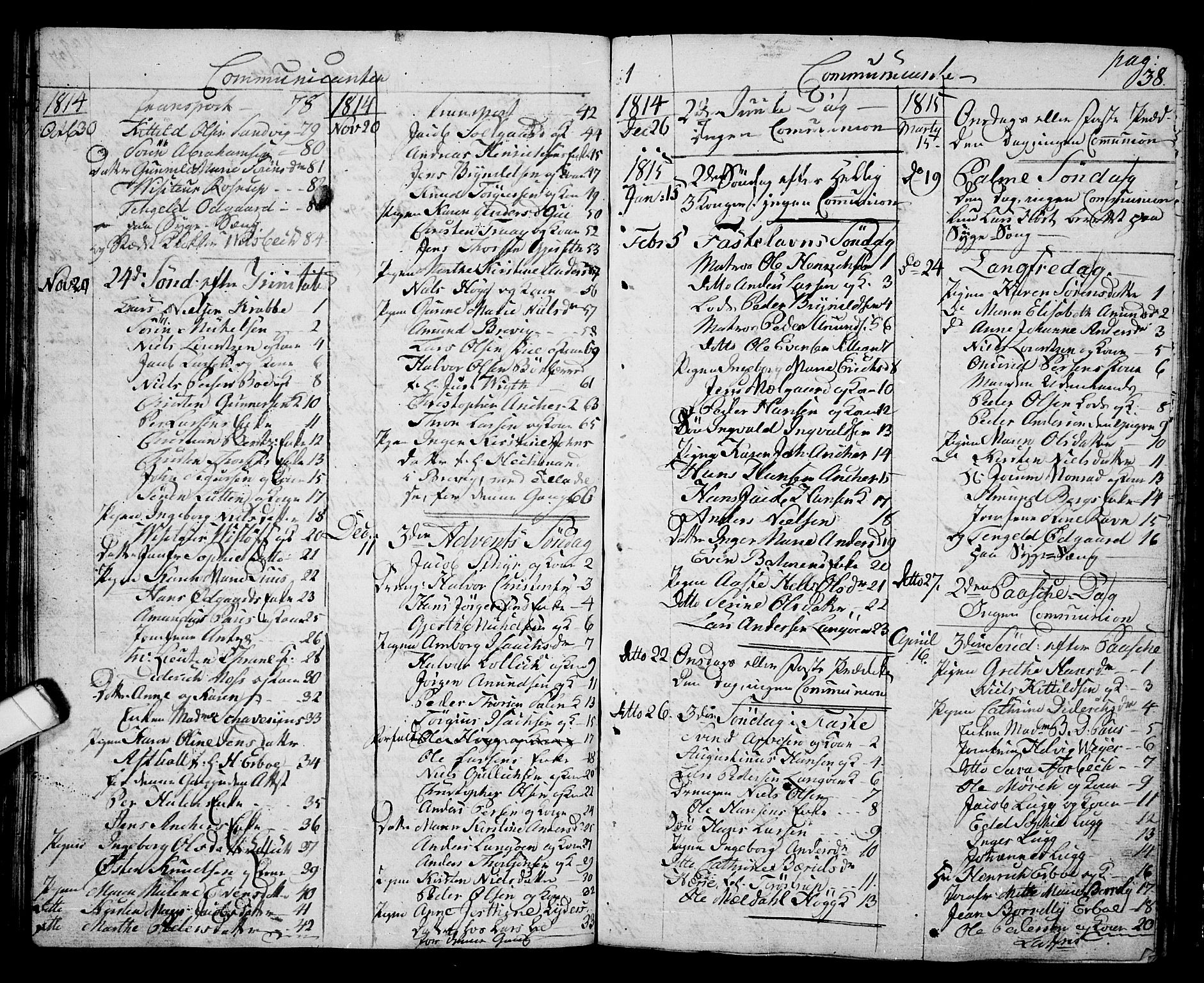 SAKO, Langesund kirkebøker, G/Ga/L0002: Klokkerbok nr. 2, 1801-1815, s. 38