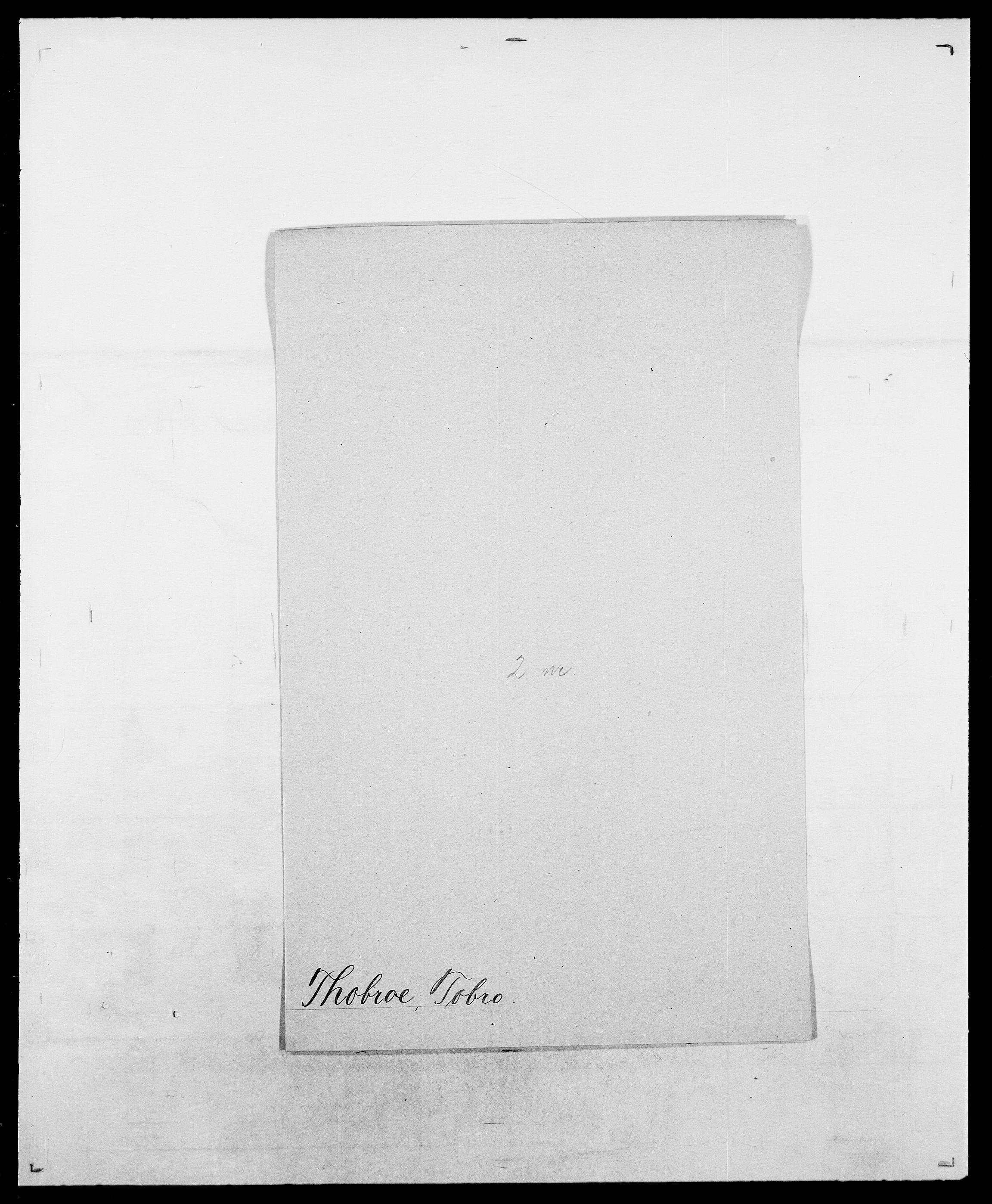 SAO, Delgobe, Charles Antoine - samling, D/Da/L0038: Svanenskjold - Thornsohn, s. 740