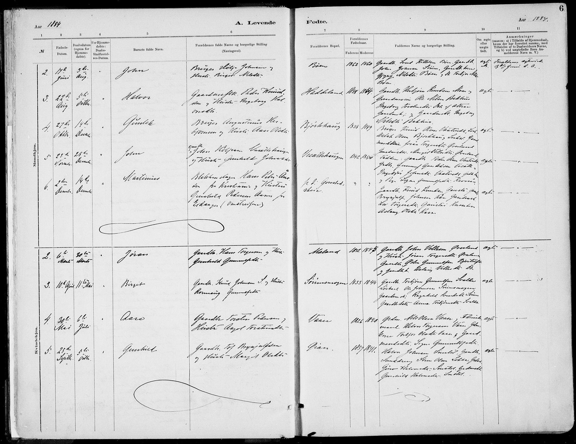 SAKO, Rjukan kirkebøker, F/Fa/L0001: Ministerialbok nr. 1, 1878-1912, s. 6