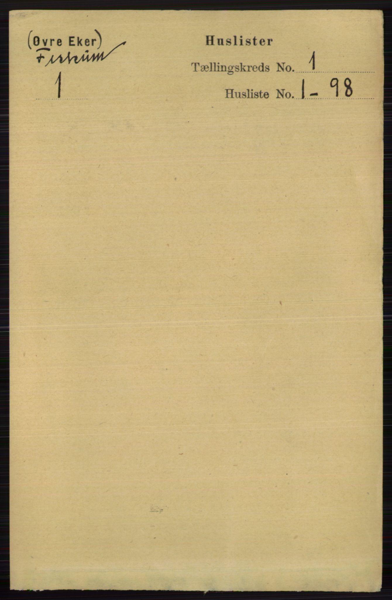 RA, Folketelling 1891 for 0624 Øvre Eiker herred, 1891, s. 7722