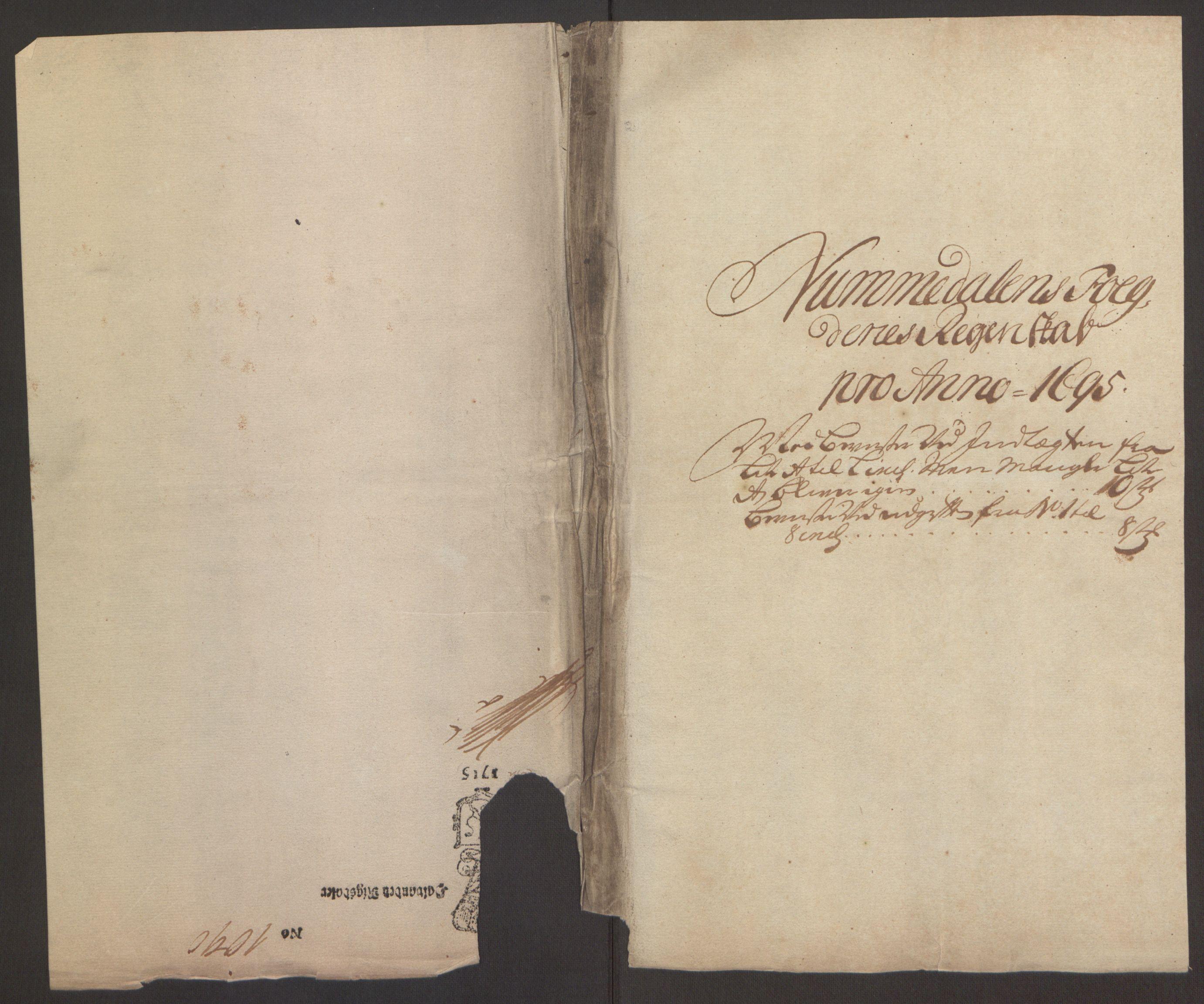 RA, Rentekammeret inntil 1814, Reviderte regnskaper, Fogderegnskap, R64/L4424: Fogderegnskap Namdal, 1692-1695, s. 451