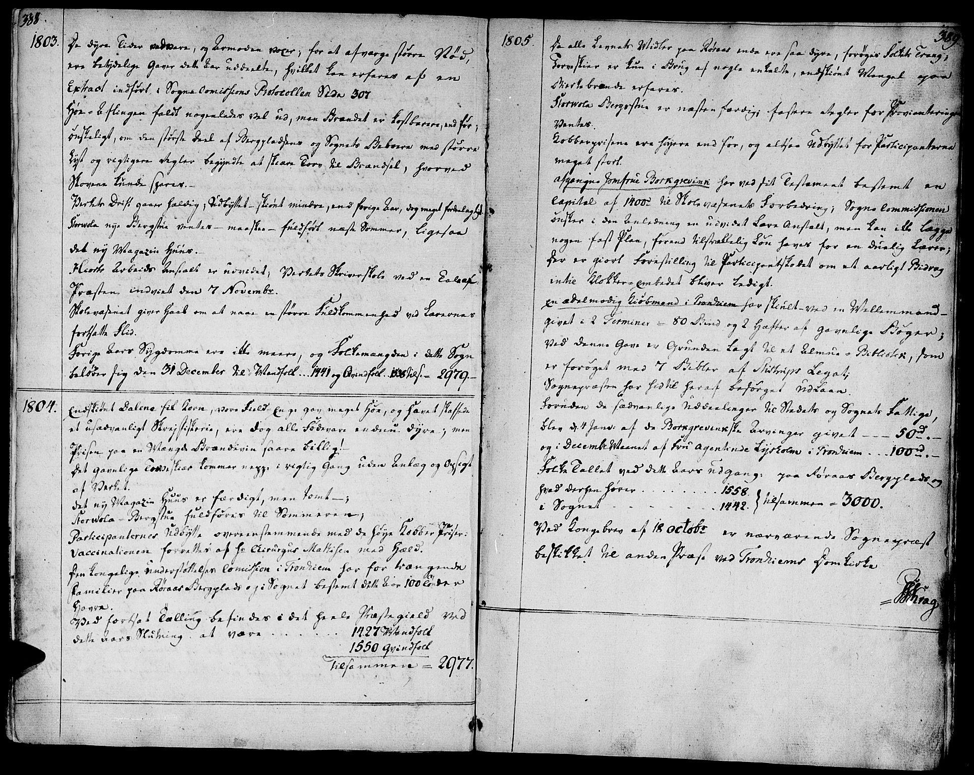 SAT, Ministerialprotokoller, klokkerbøker og fødselsregistre - Sør-Trøndelag, 681/L0927: Ministerialbok nr. 681A05, 1798-1808, s. 388-389