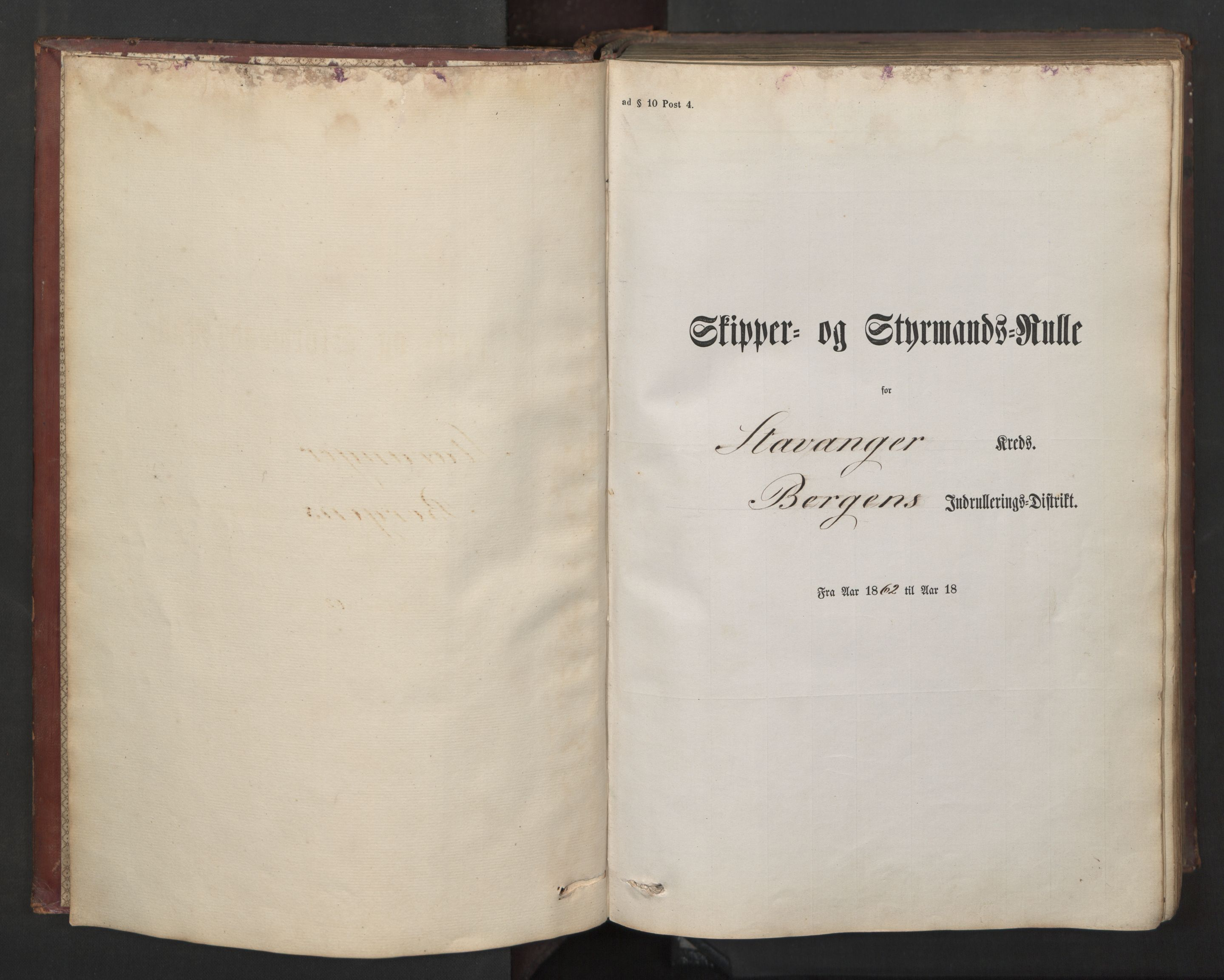SAST, Stavanger sjømannskontor, F/Fc/L0002: Skipper- og styrmannsrulle, patentnr. 519-850, 1862, s. 4