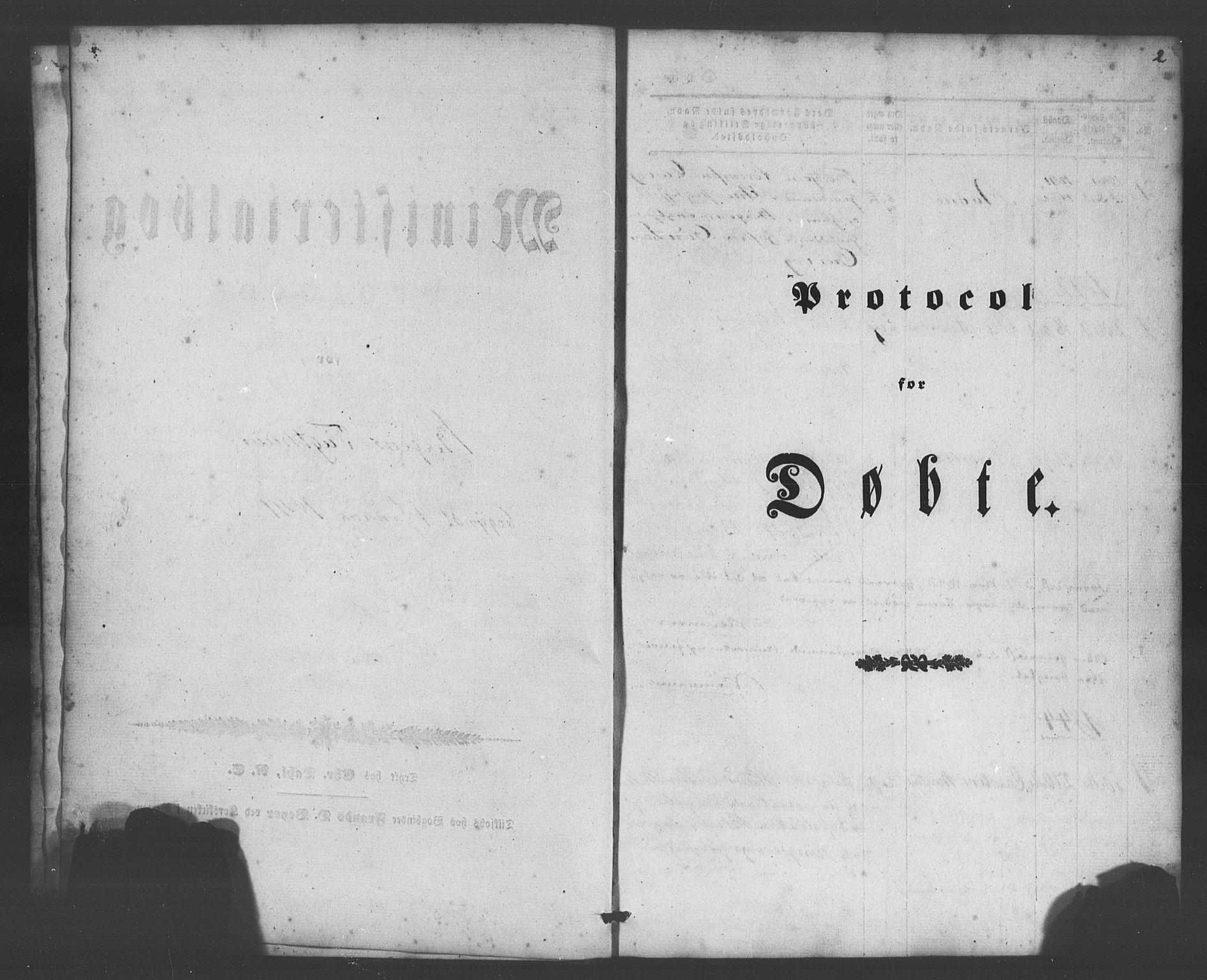 SAB, Bergens strafanstalts sokneprestembete*, Ministerialbok nr. A 1, 1841-1884, s. 2