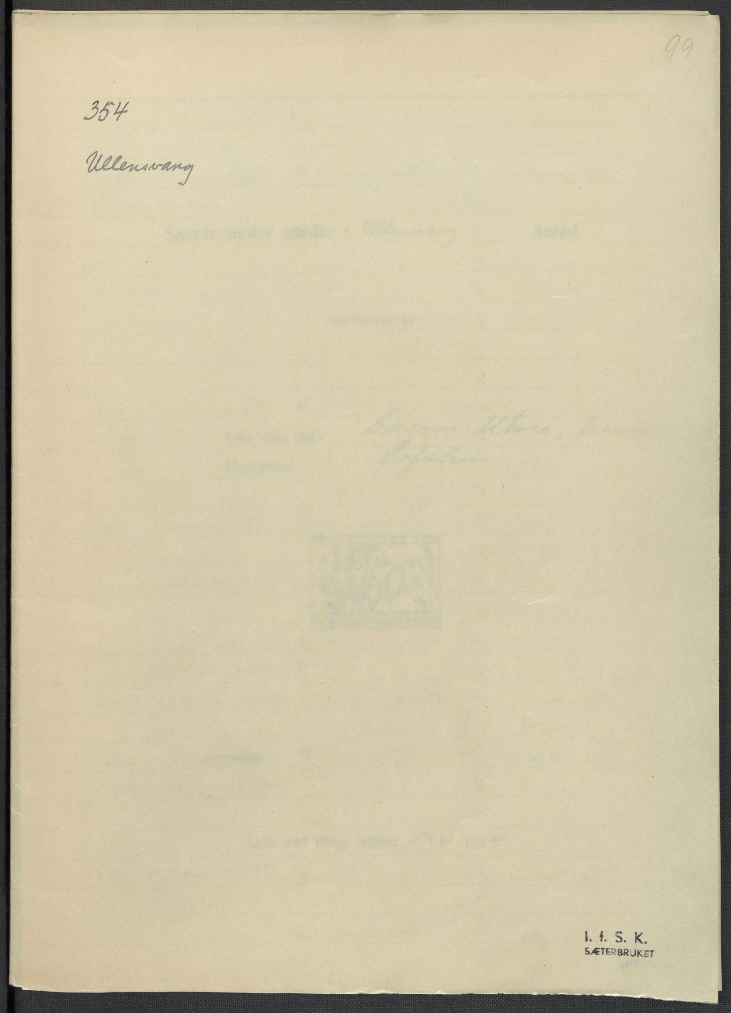 RA, Instituttet for sammenlignende kulturforskning, F/Fc/L0010: Eske B10:, 1932-1935, s. 99