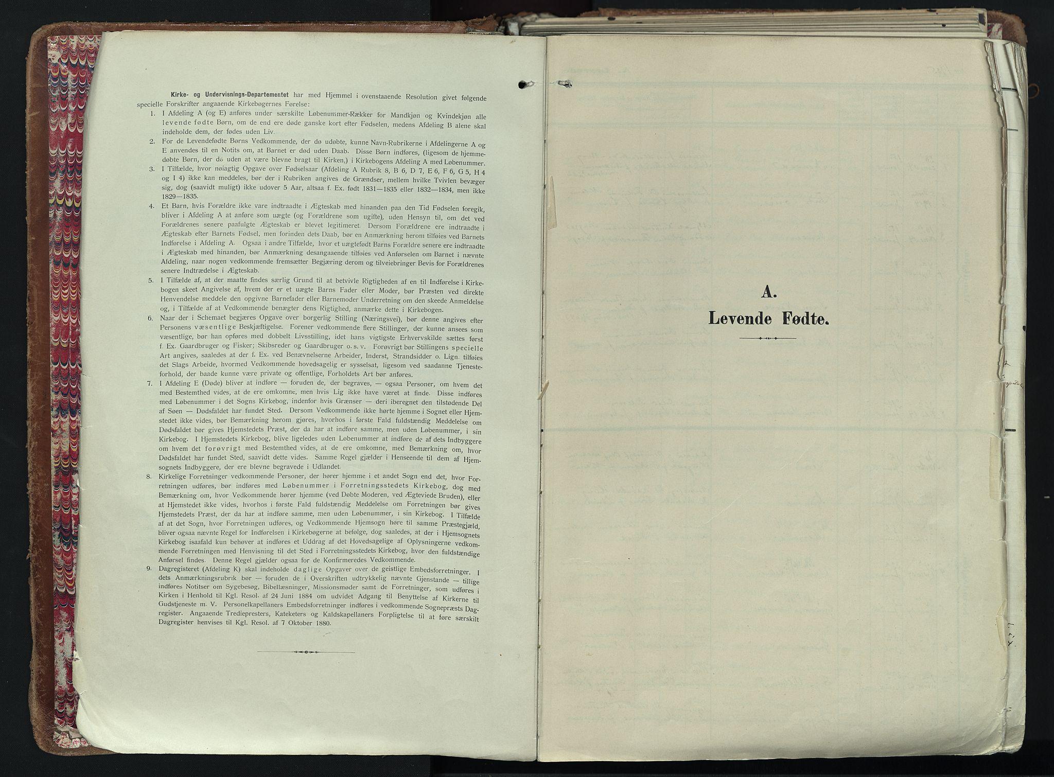 SAKO, Larvik kirkebøker, F/Fa/L0012: Ministerialbok nr. I 12, 1905-1933, s. 3