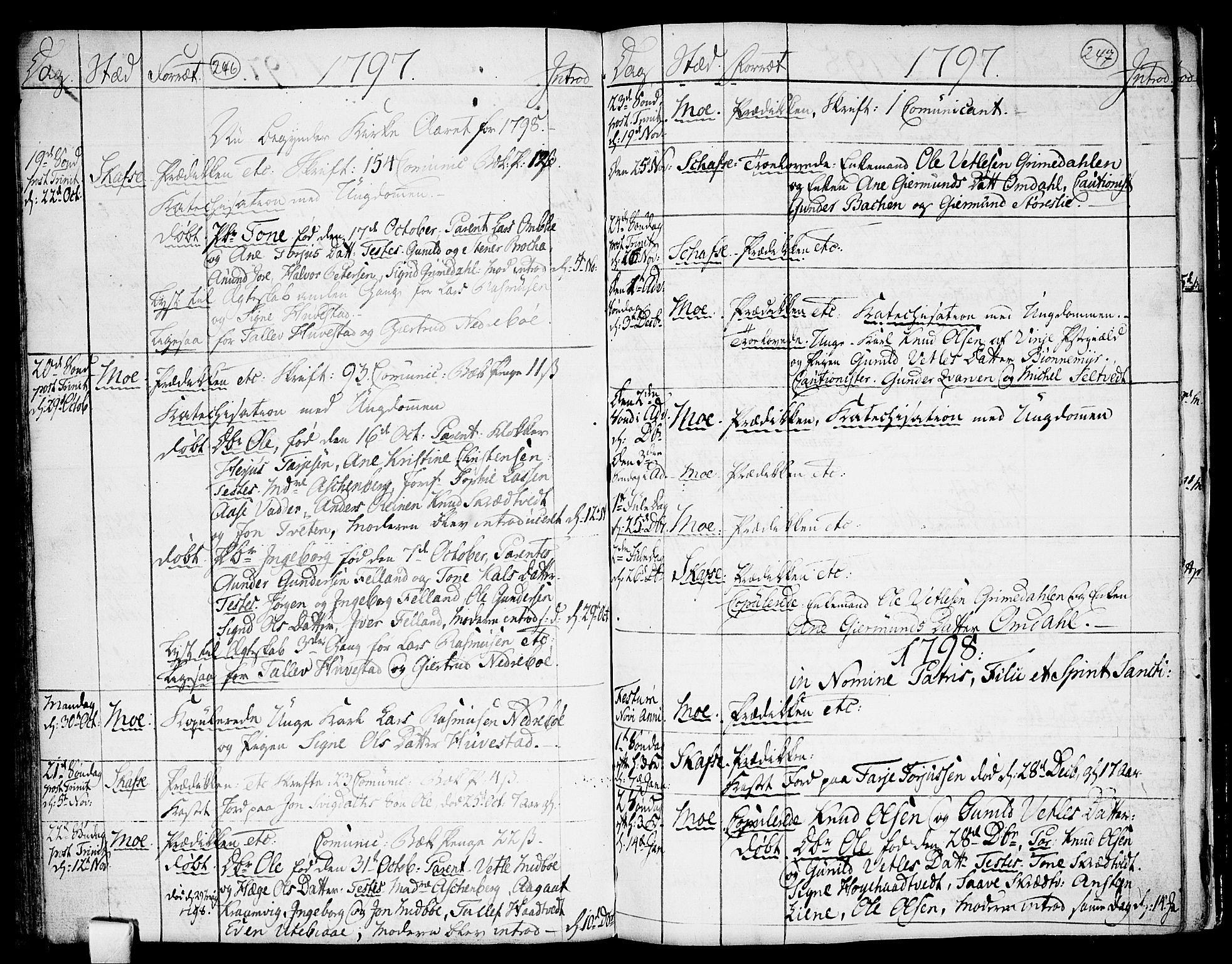 SAKO, Mo kirkebøker, F/Fa/L0002: Ministerialbok nr. I 2, 1766-1799, s. 246-247