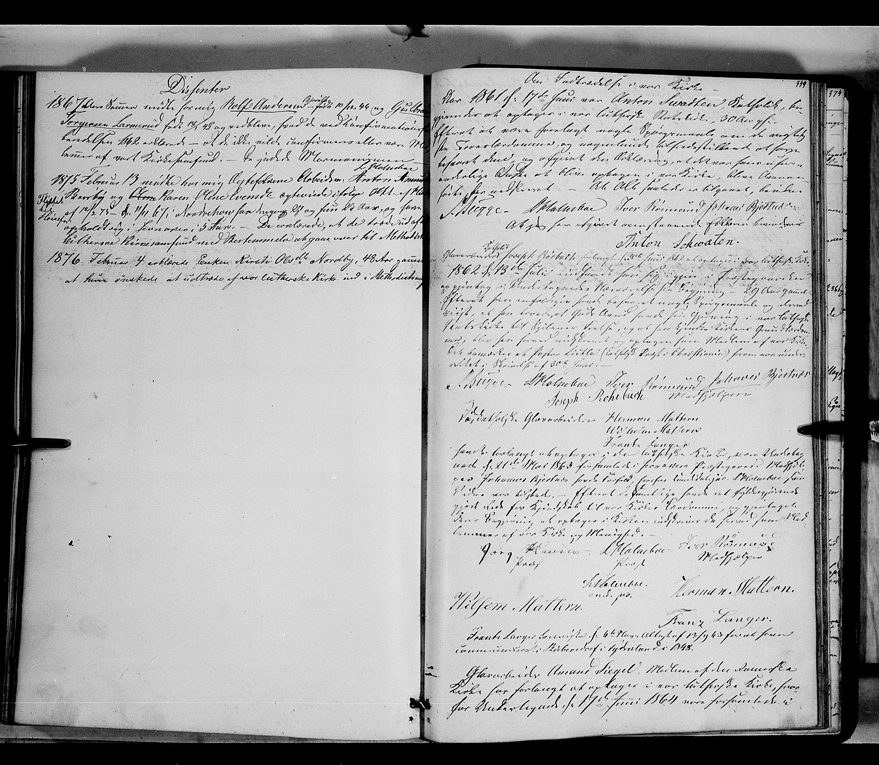 SAH, Jevnaker prestekontor, Ministerialbok nr. 7, 1858-1876, s. 349