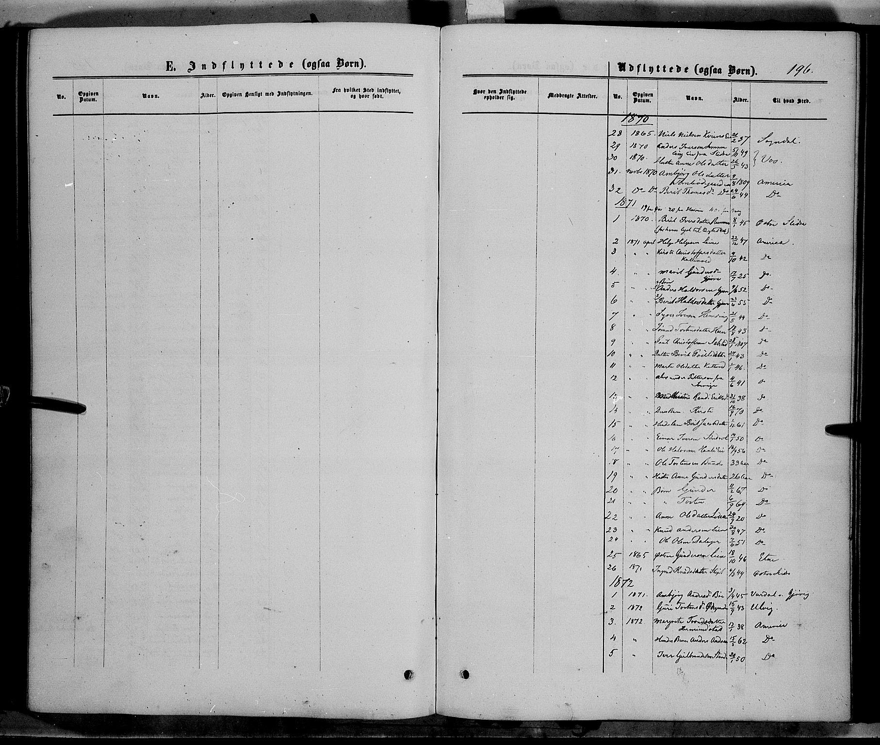 SAH, Vang prestekontor, Valdres, Ministerialbok nr. 7, 1865-1881, s. 196