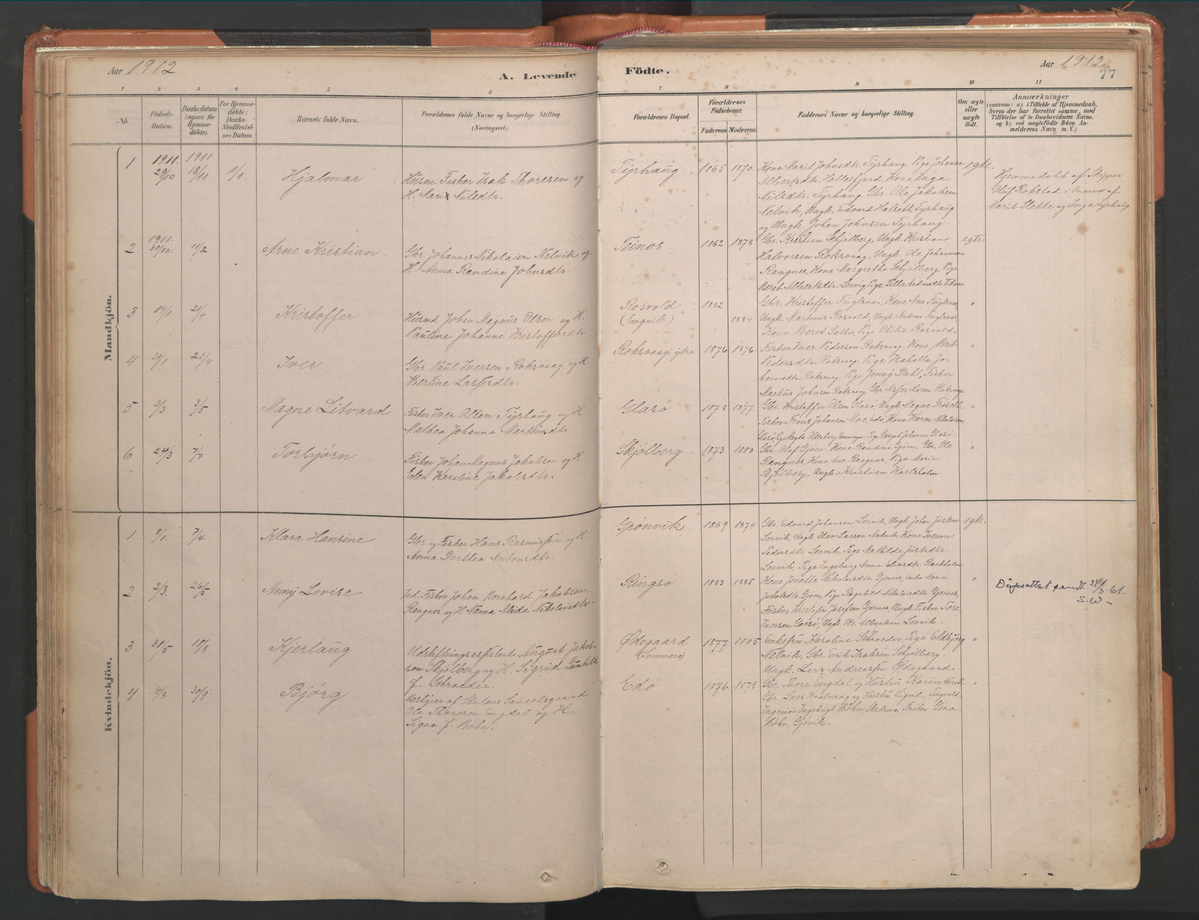 SAT, Ministerialprotokoller, klokkerbøker og fødselsregistre - Møre og Romsdal, 581/L0941: Ministerialbok nr. 581A09, 1880-1919, s. 77