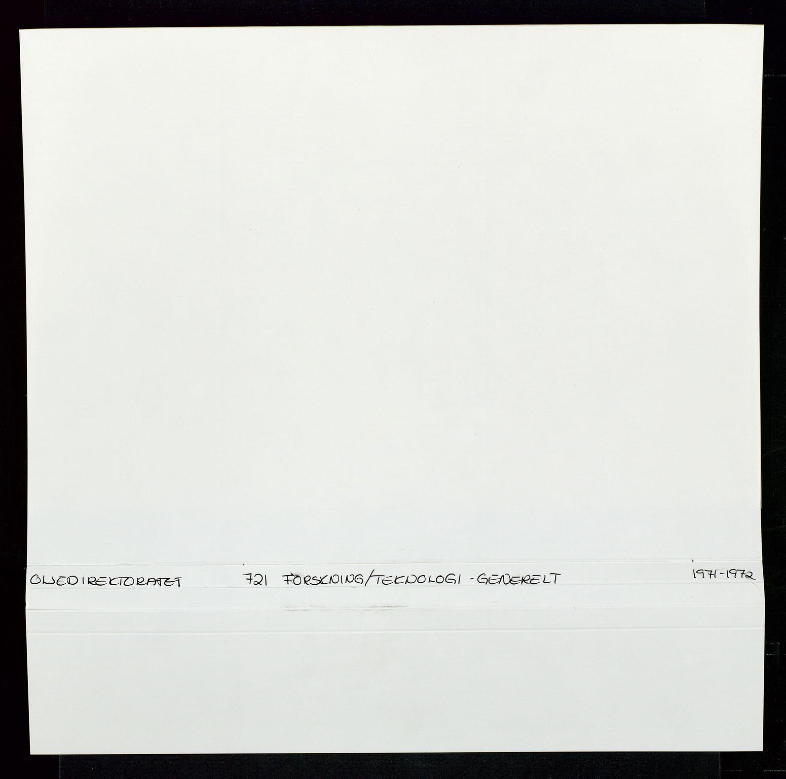 SAST, Industridepartementet, Oljekontoret, Da/L0008:  Arkivnøkkel 721- 722 Geofysikk, forskning, 1970-1972, s. 2