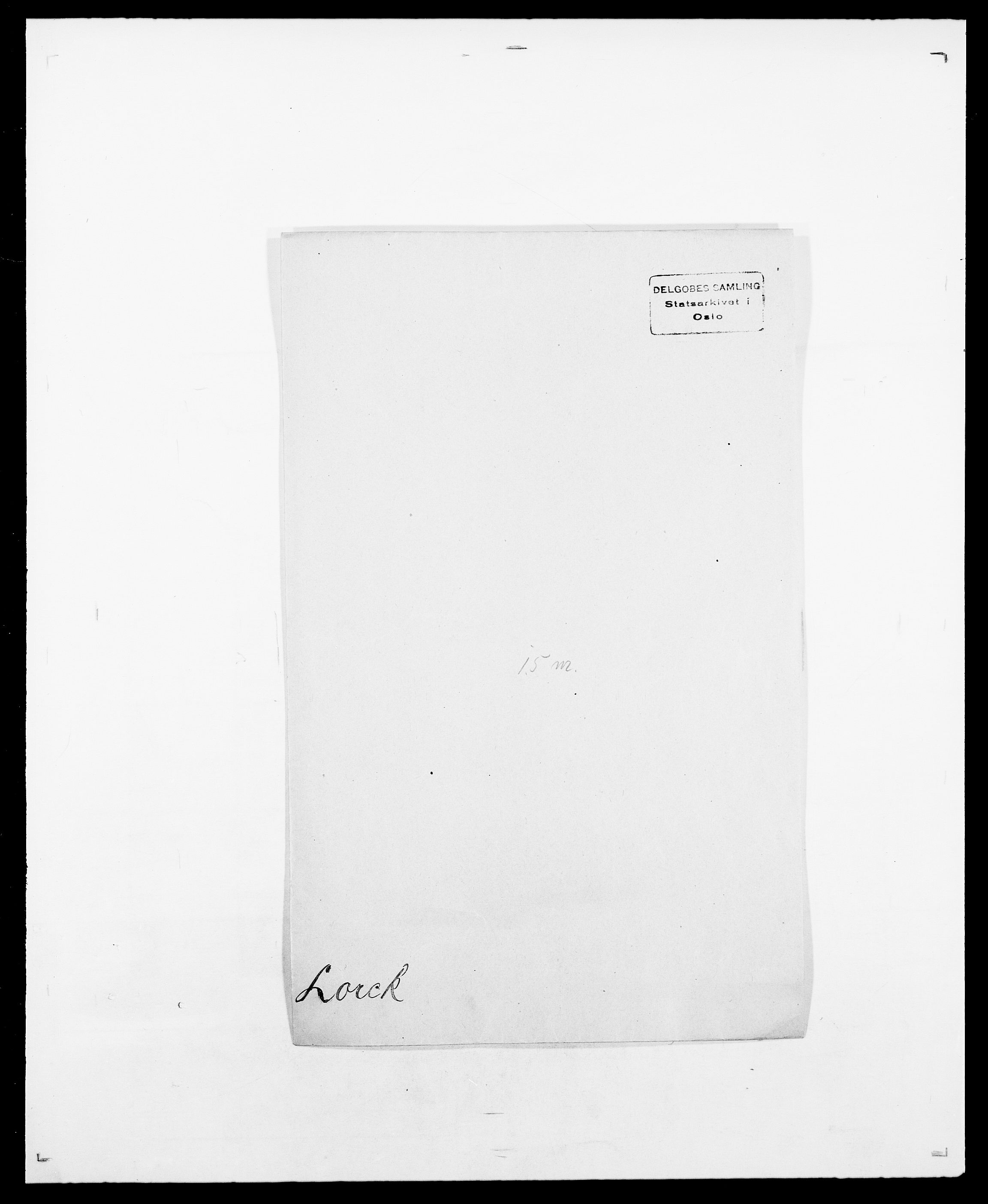 SAO, Delgobe, Charles Antoine - samling, D/Da/L0024: Lobech - Lærum, s. 223