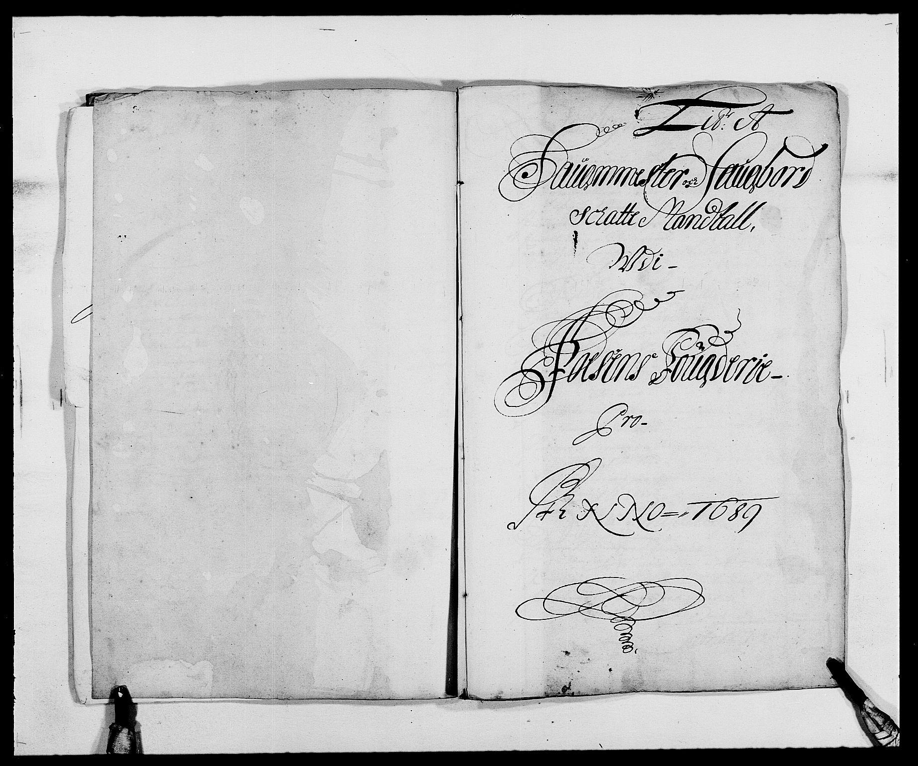 RA, Rentekammeret inntil 1814, Reviderte regnskaper, Fogderegnskap, R57/L3847: Fogderegnskap Fosen, 1689, s. 14