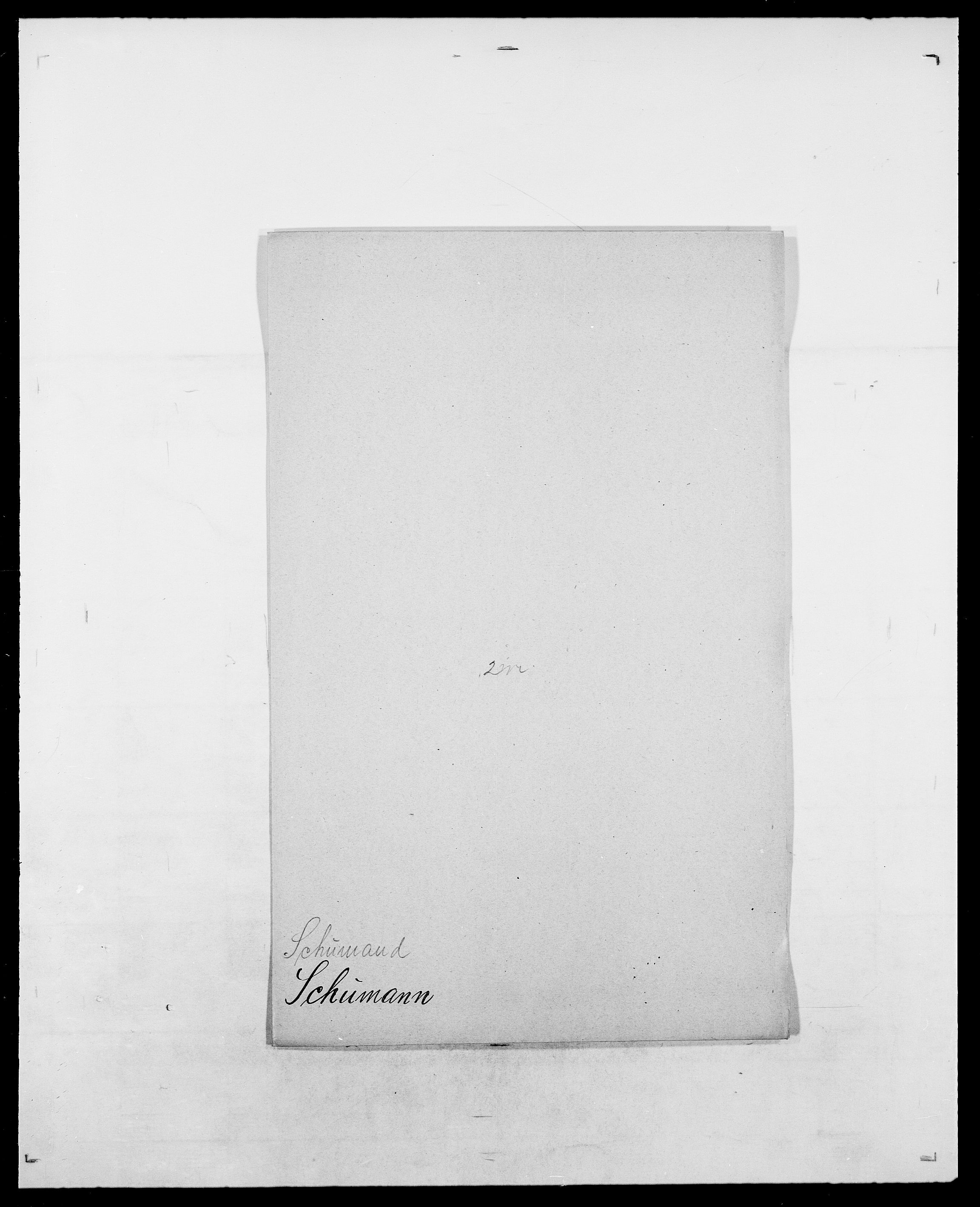 SAO, Delgobe, Charles Antoine - samling, D/Da/L0035: Schnabel - sjetman, s. 355