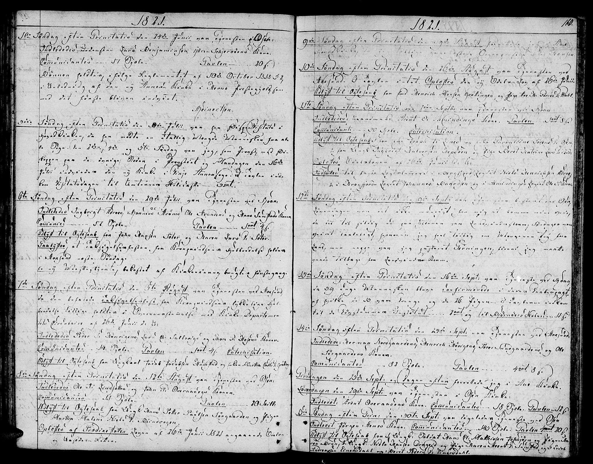SAT, Ministerialprotokoller, klokkerbøker og fødselsregistre - Sør-Trøndelag, 657/L0701: Ministerialbok nr. 657A02, 1802-1831, s. 160
