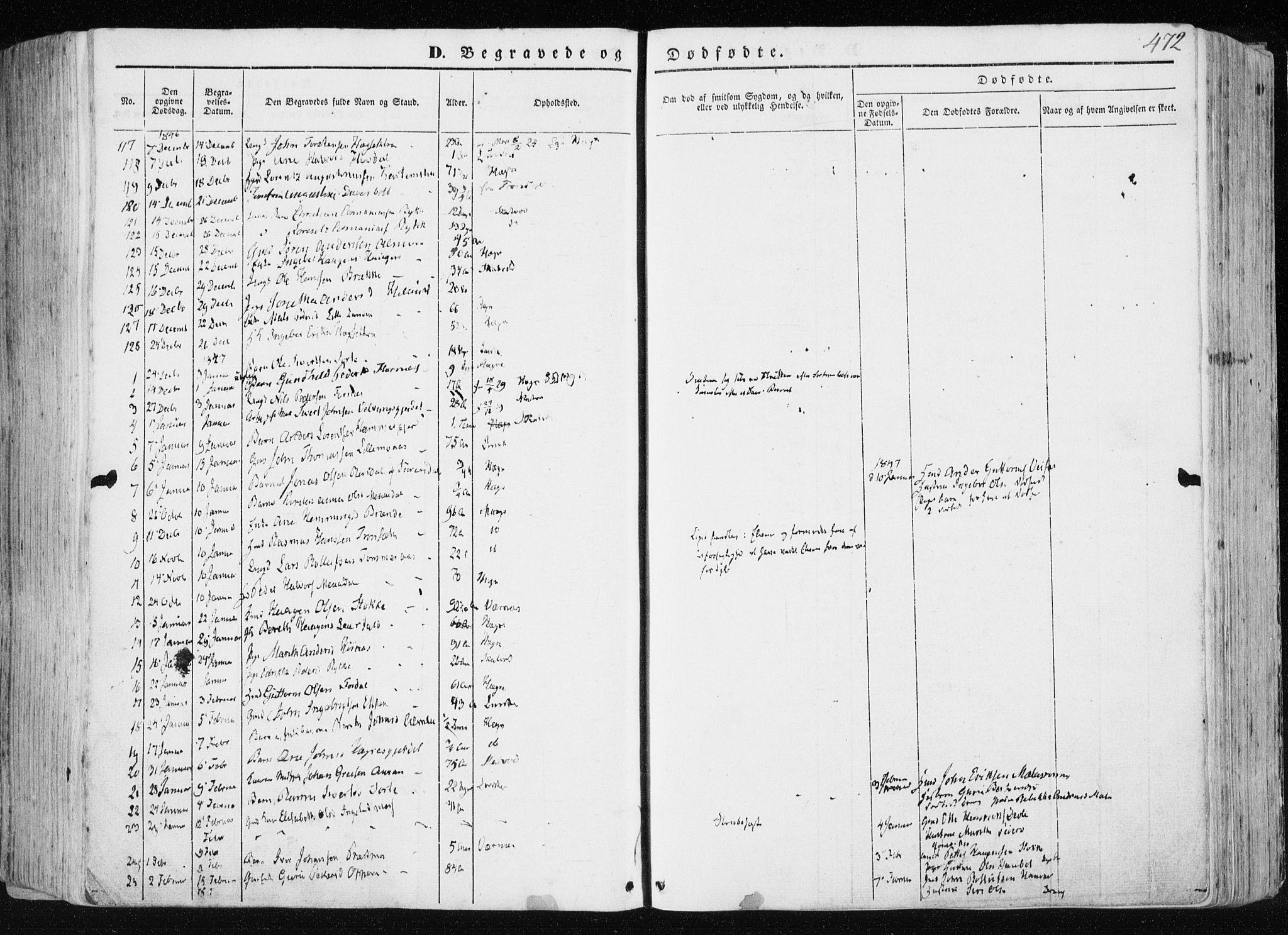 SAT, Ministerialprotokoller, klokkerbøker og fødselsregistre - Nord-Trøndelag, 709/L0074: Ministerialbok nr. 709A14, 1845-1858, s. 472