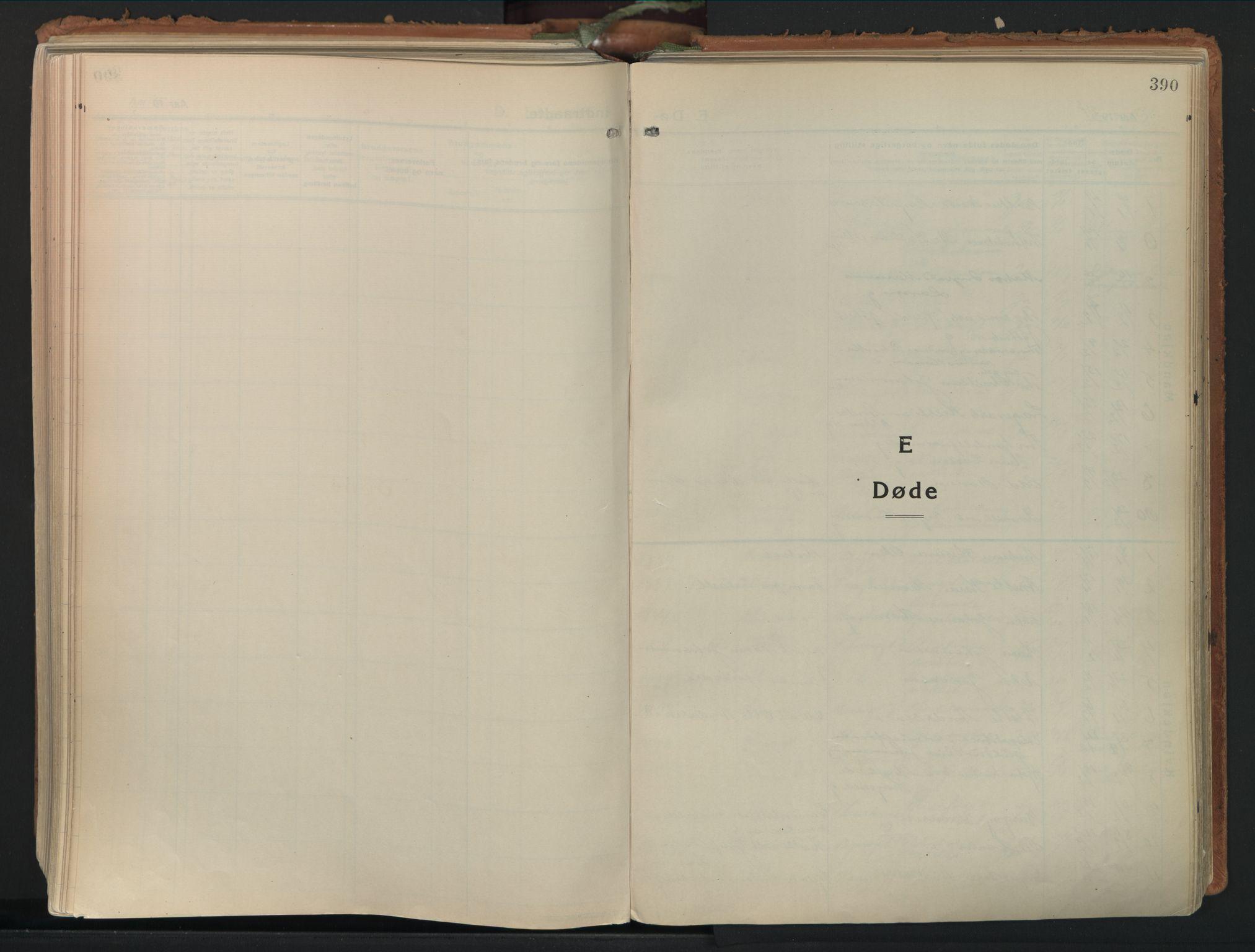 SAO, Moss prestekontor Kirkebøker, F/Fb/Fab/L0006: Ministerialbok nr. II 6, 1924-1932, s. 390