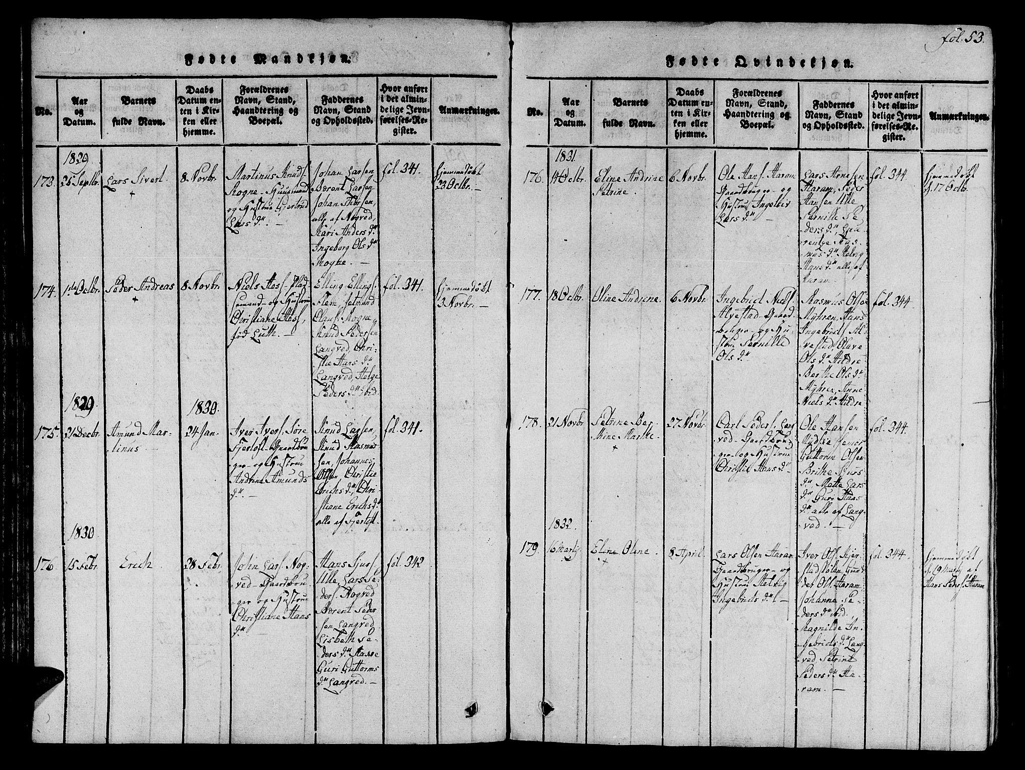SAT, Ministerialprotokoller, klokkerbøker og fødselsregistre - Møre og Romsdal, 536/L0495: Ministerialbok nr. 536A04, 1818-1847, s. 53