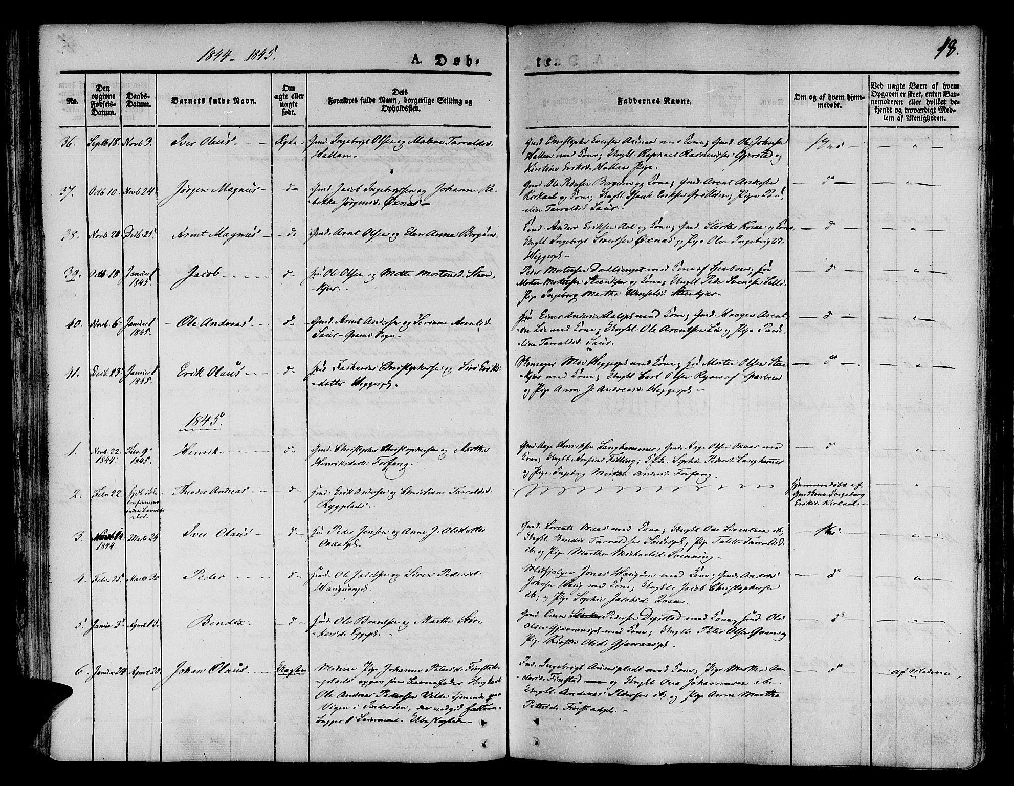SAT, Ministerialprotokoller, klokkerbøker og fødselsregistre - Nord-Trøndelag, 746/L0445: Ministerialbok nr. 746A04, 1826-1846, s. 48