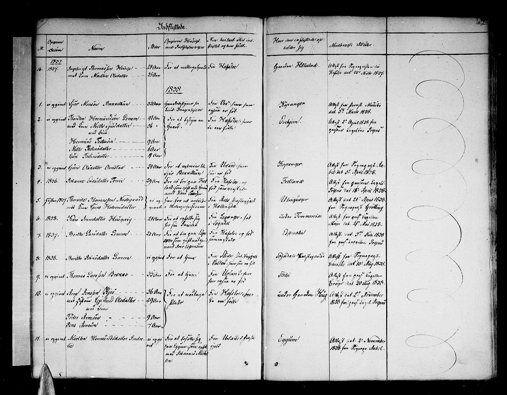 SAB, Sogndal Sokneprestembete, H/Haa/Haaa/L0010: Ministerialbok nr. A 10, 1821-1838, s. 398
