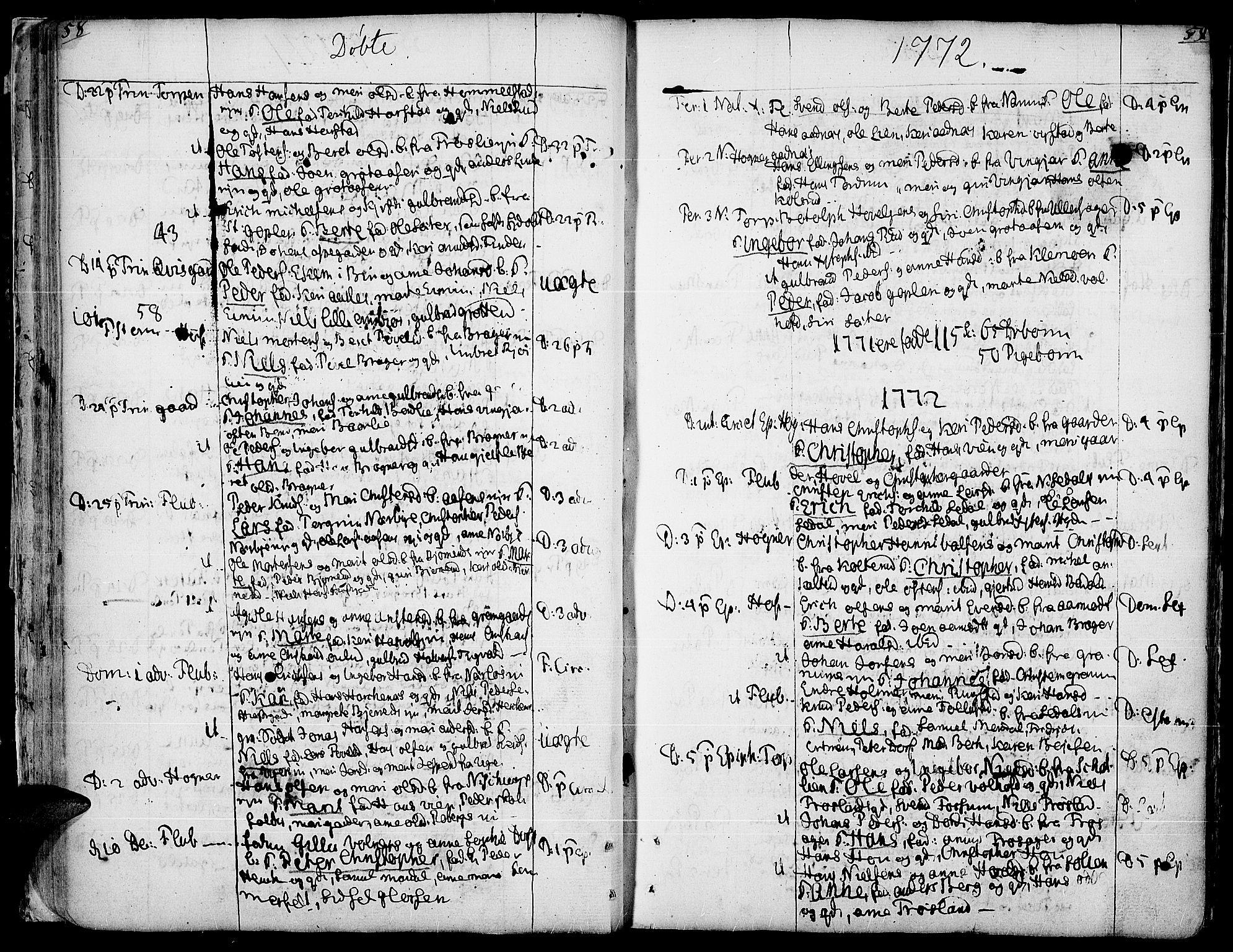 SAH, Land prestekontor, Ministerialbok nr. 5, 1765-1784, s. 58-59