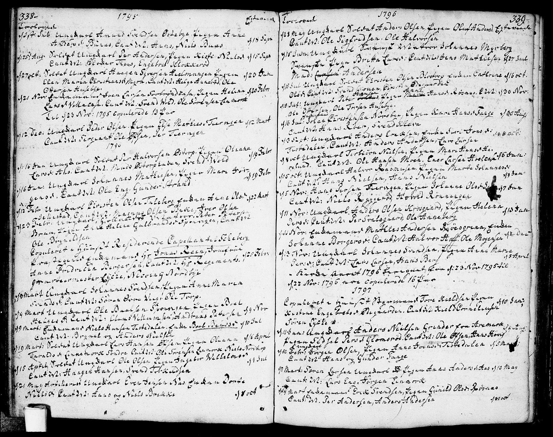 SAO, Berg prestekontor Kirkebøker, F/Fa/L0001: Ministerialbok nr. I 1, 1770-1814, s. 338-339
