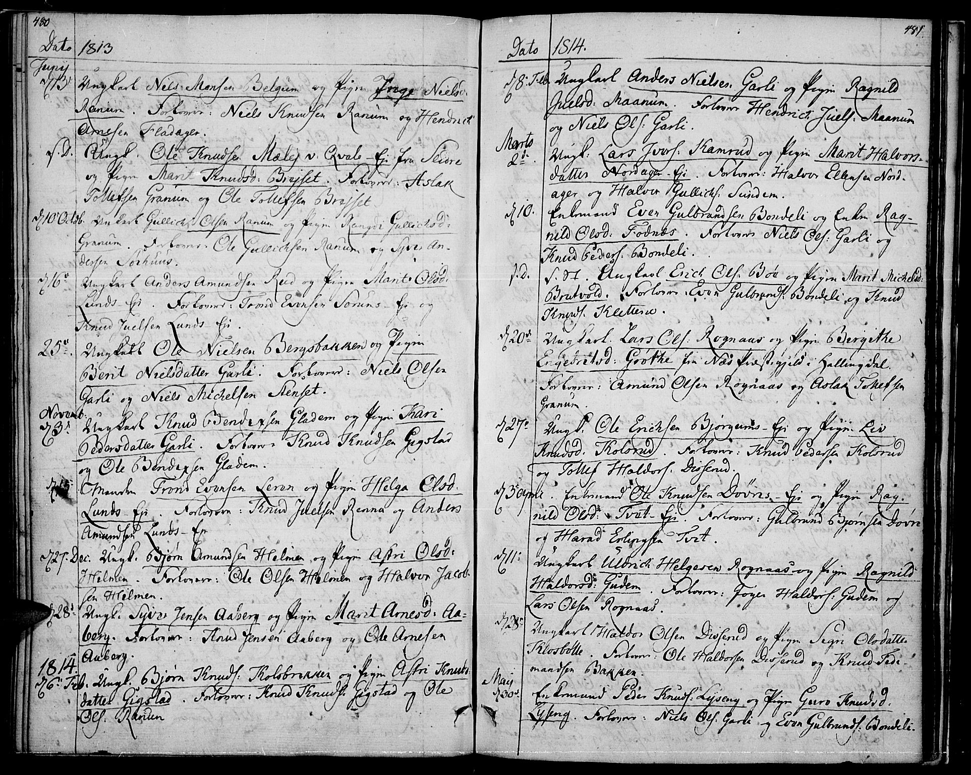 SAH, Nord-Aurdal prestekontor, Ministerialbok nr. 1, 1808-1815, s. 480-481