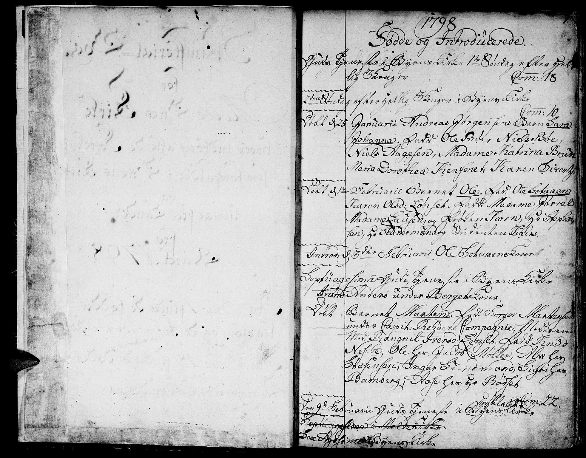 SAT, Ministerialprotokoller, klokkerbøker og fødselsregistre - Møre og Romsdal, 558/L0687: Ministerialbok nr. 558A01, 1798-1818, s. 1