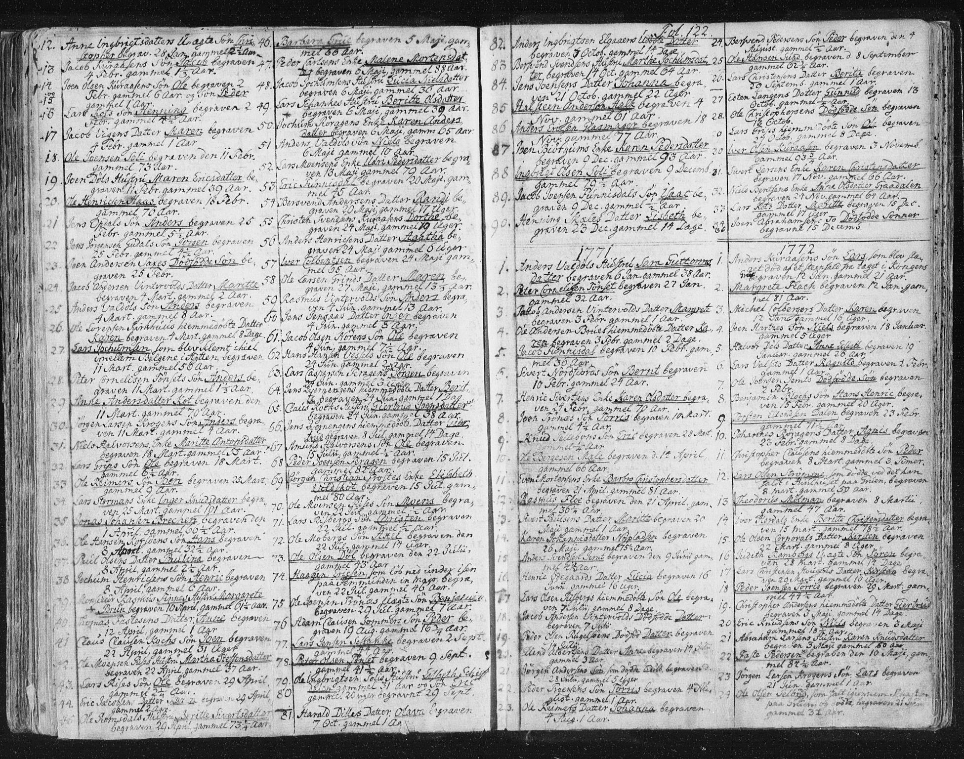 SAT, Ministerialprotokoller, klokkerbøker og fødselsregistre - Sør-Trøndelag, 681/L0926: Ministerialbok nr. 681A04, 1767-1797, s. 122