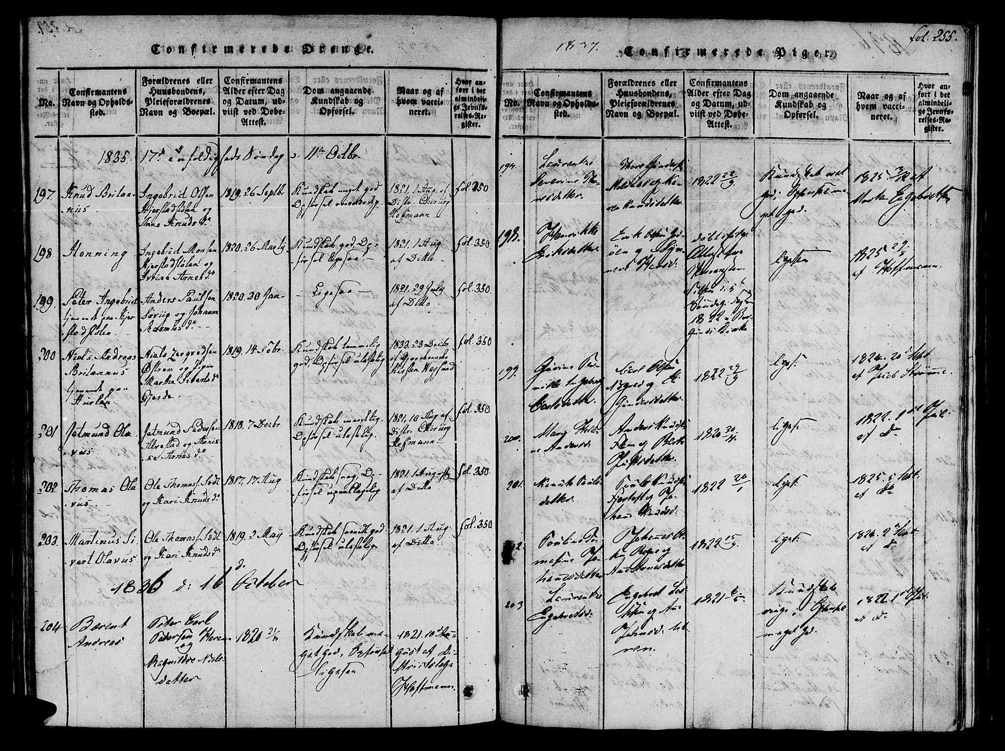 SAT, Ministerialprotokoller, klokkerbøker og fødselsregistre - Møre og Romsdal, 536/L0495: Ministerialbok nr. 536A04, 1818-1847, s. 255