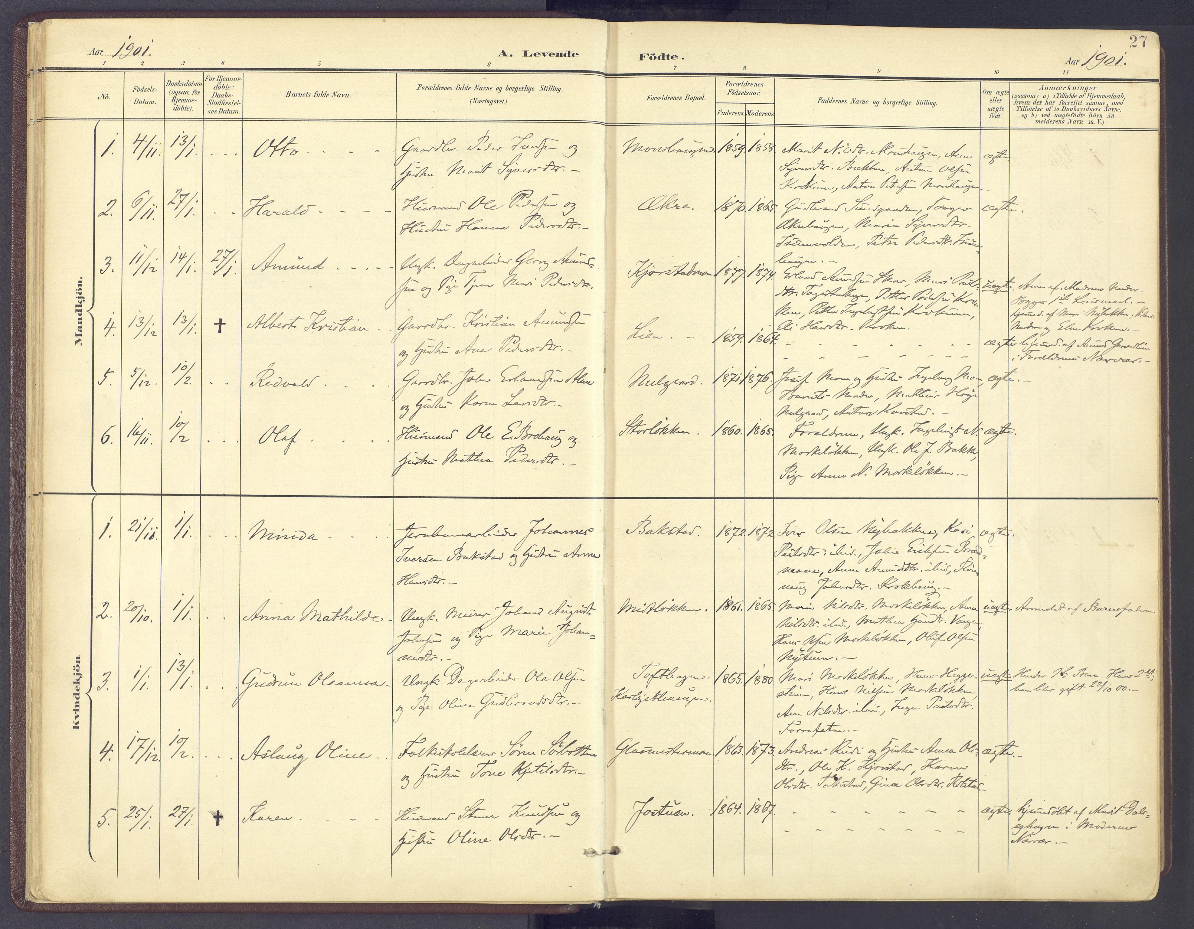 SAH, Sør-Fron prestekontor, H/Ha/Haa/L0004: Ministerialbok nr. 4, 1898-1919, s. 27