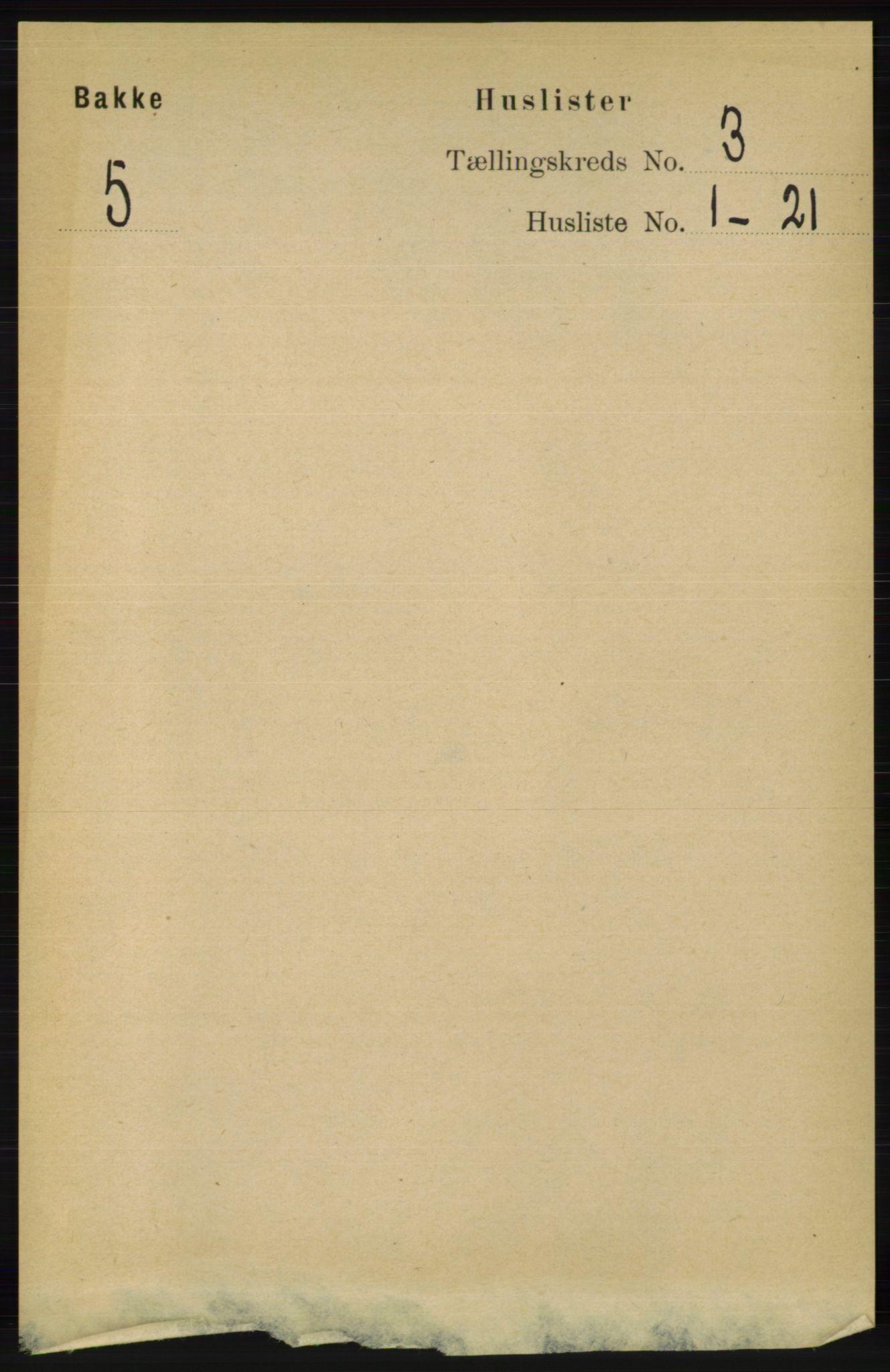 RA, Folketelling 1891 for 1045 Bakke herred, 1891, s. 388