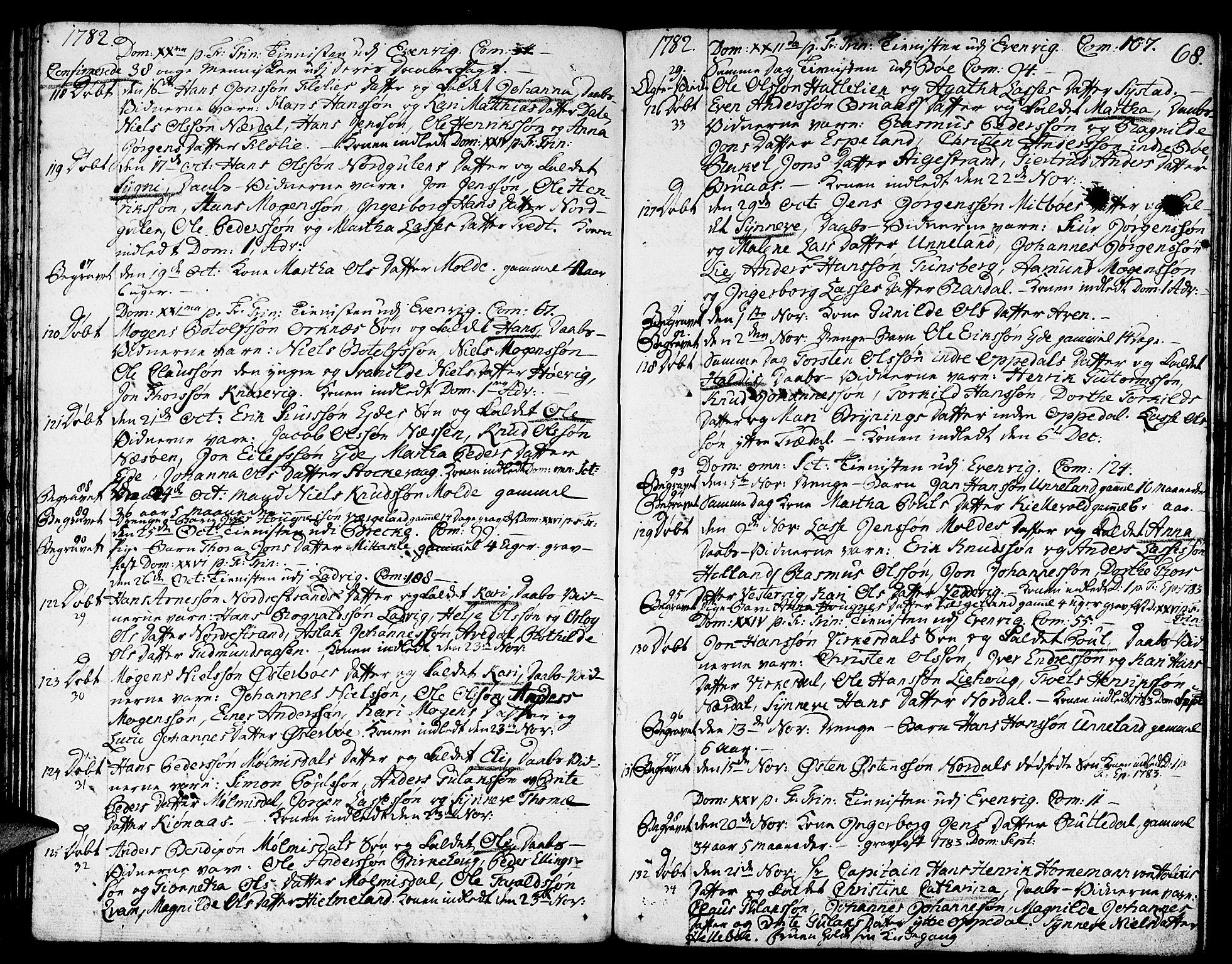 SAB, Gulen sokneprestembete, Ministerialbok nr. A 13, 1776-1787, s. 68