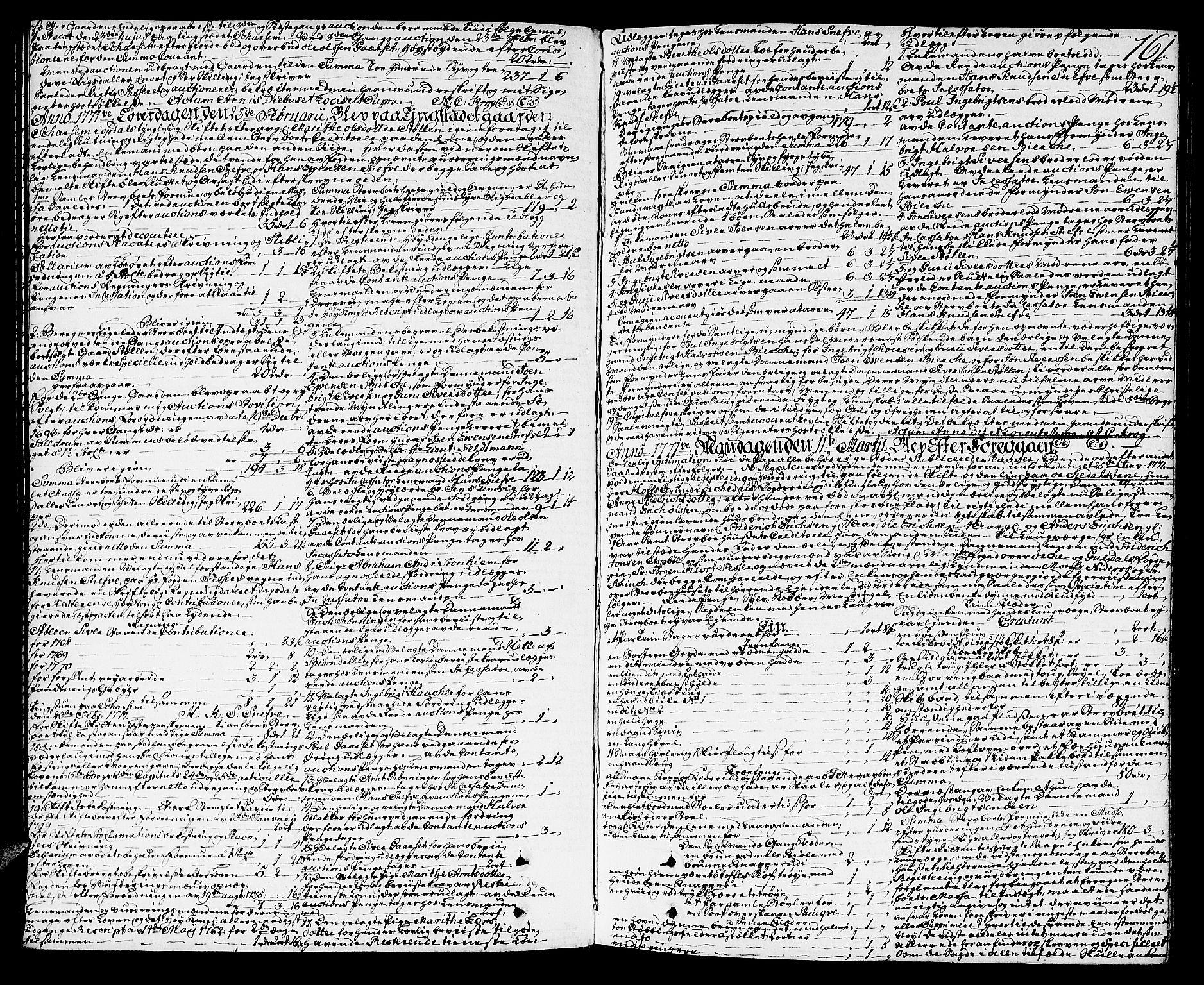 SAT, Orkdal sorenskriveri, 3/3Aa/L0007: Skifteprotokoller, 1767-1782, s. 160b-161a
