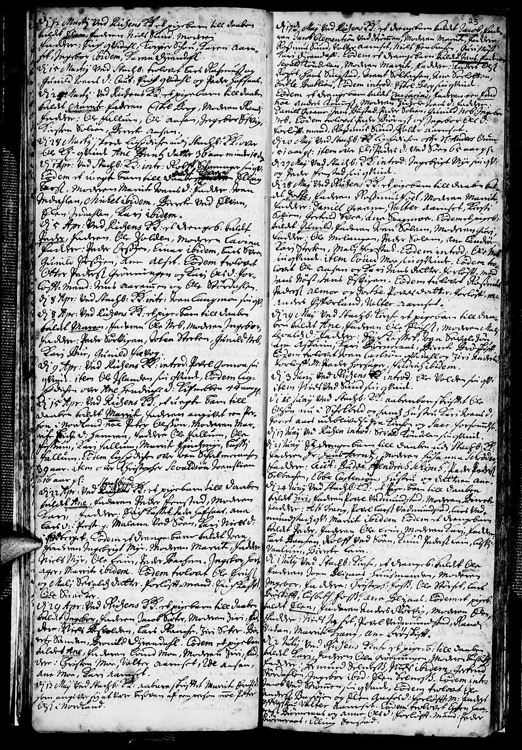 SAT, Ministerialprotokoller, klokkerbøker og fødselsregistre - Sør-Trøndelag, 646/L0603: Ministerialbok nr. 646A01, 1700-1734, s. 23