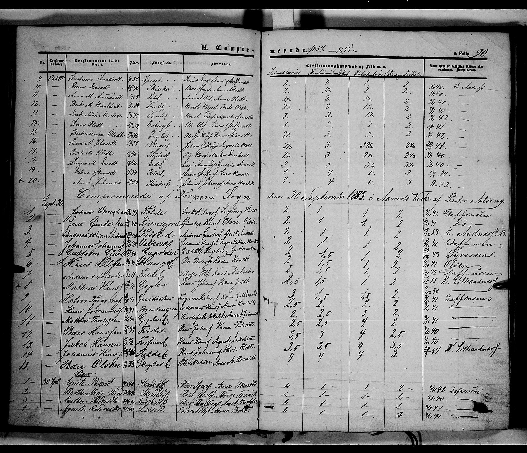 SAH, Land prestekontor, Ministerialbok nr. 10, 1847-1859, s. 90
