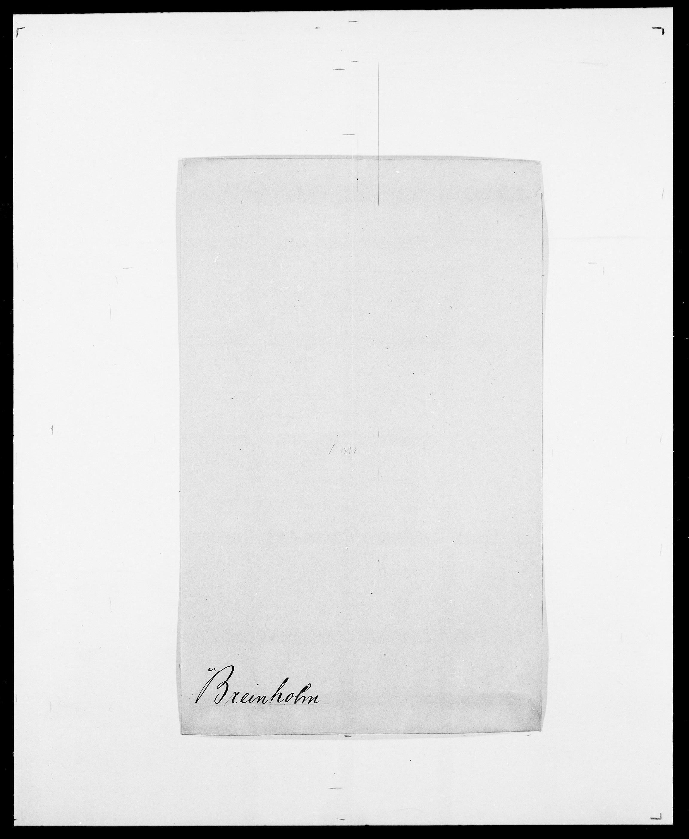 SAO, Delgobe, Charles Antoine - samling, D/Da/L0006: Brambani - Brønø, s. 284