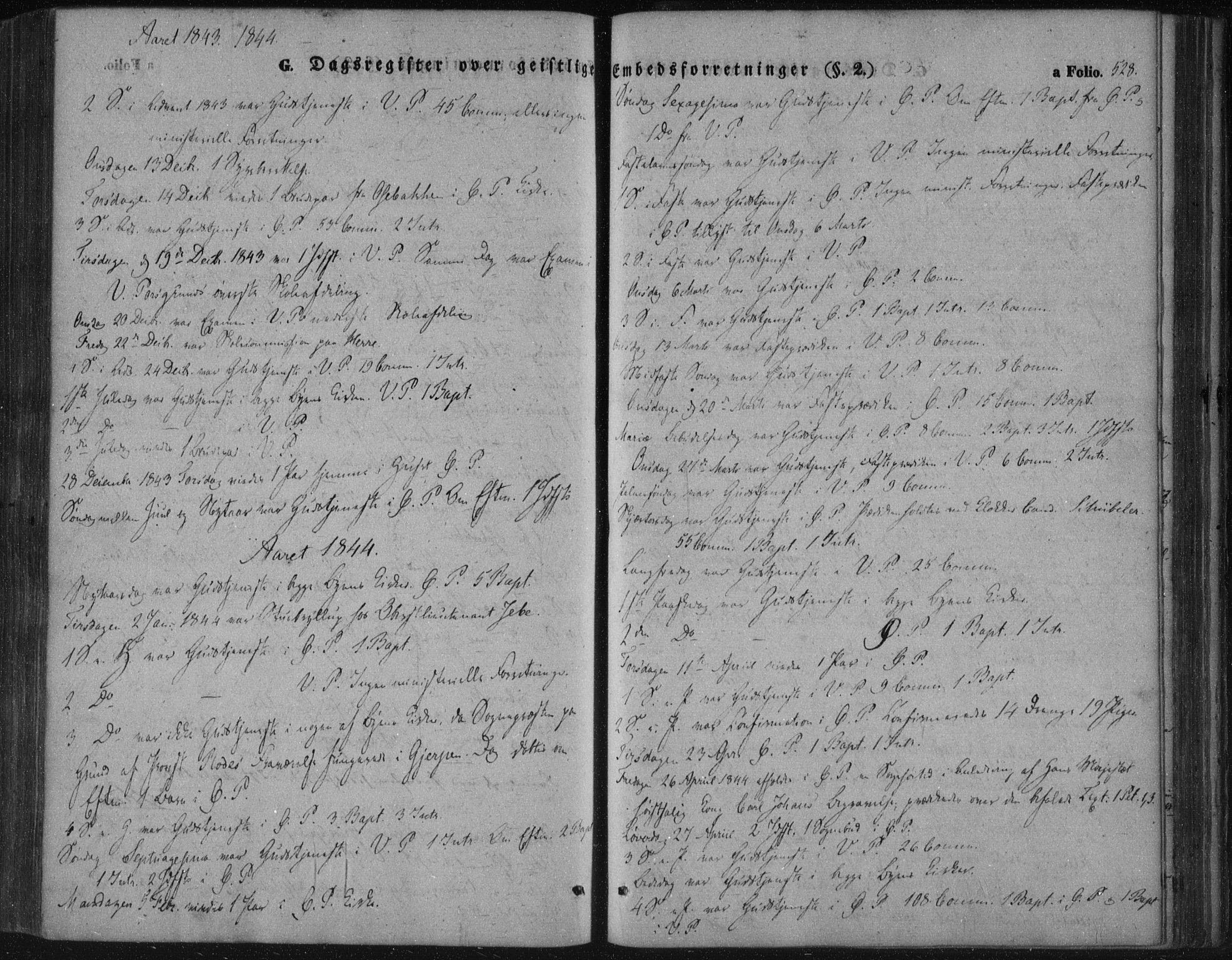 SAKO, Porsgrunn kirkebøker , F/Fa/L0006: Ministerialbok nr. 6, 1841-1857, s. 528