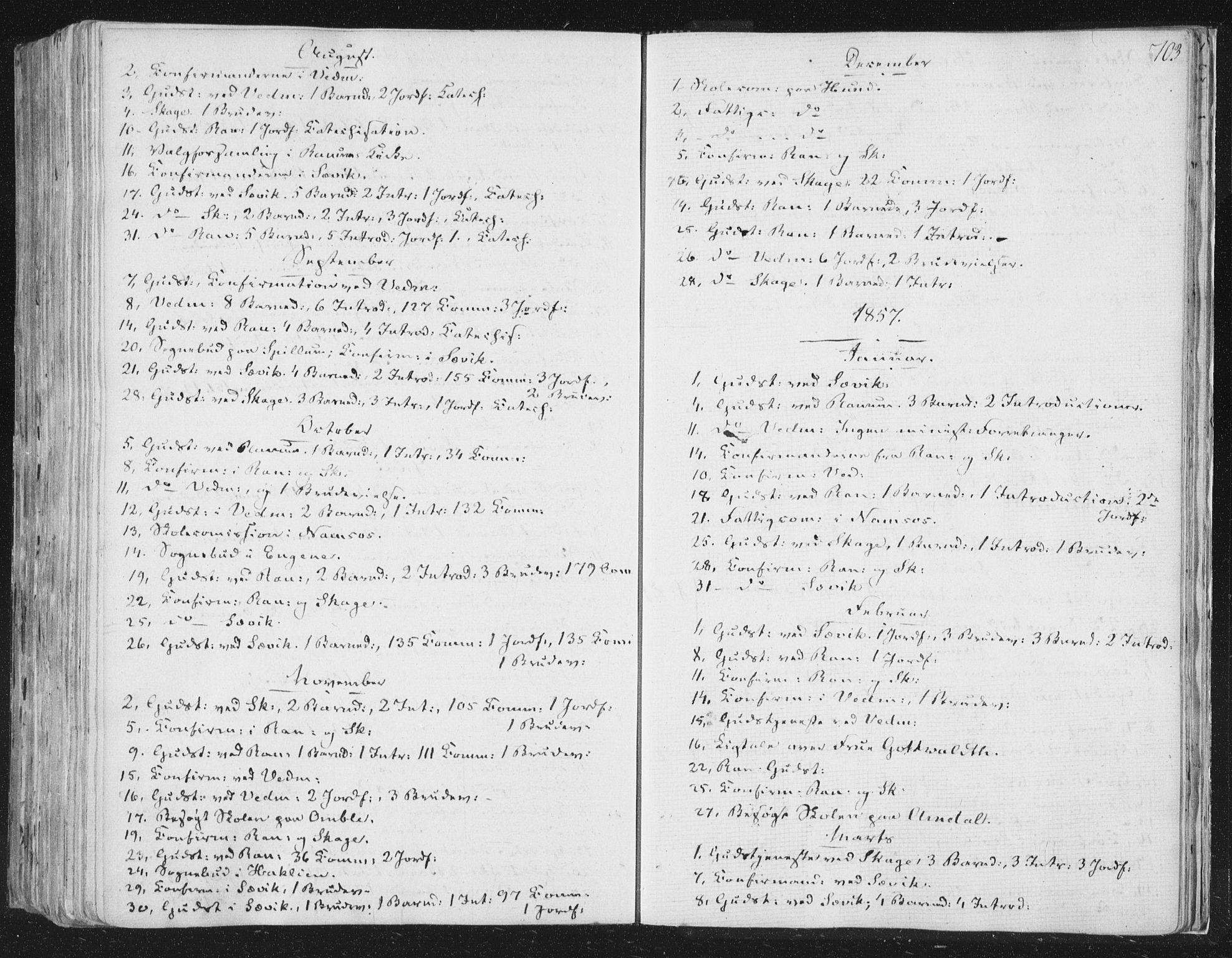 SAT, Ministerialprotokoller, klokkerbøker og fødselsregistre - Nord-Trøndelag, 764/L0552: Ministerialbok nr. 764A07b, 1824-1865, s. 703