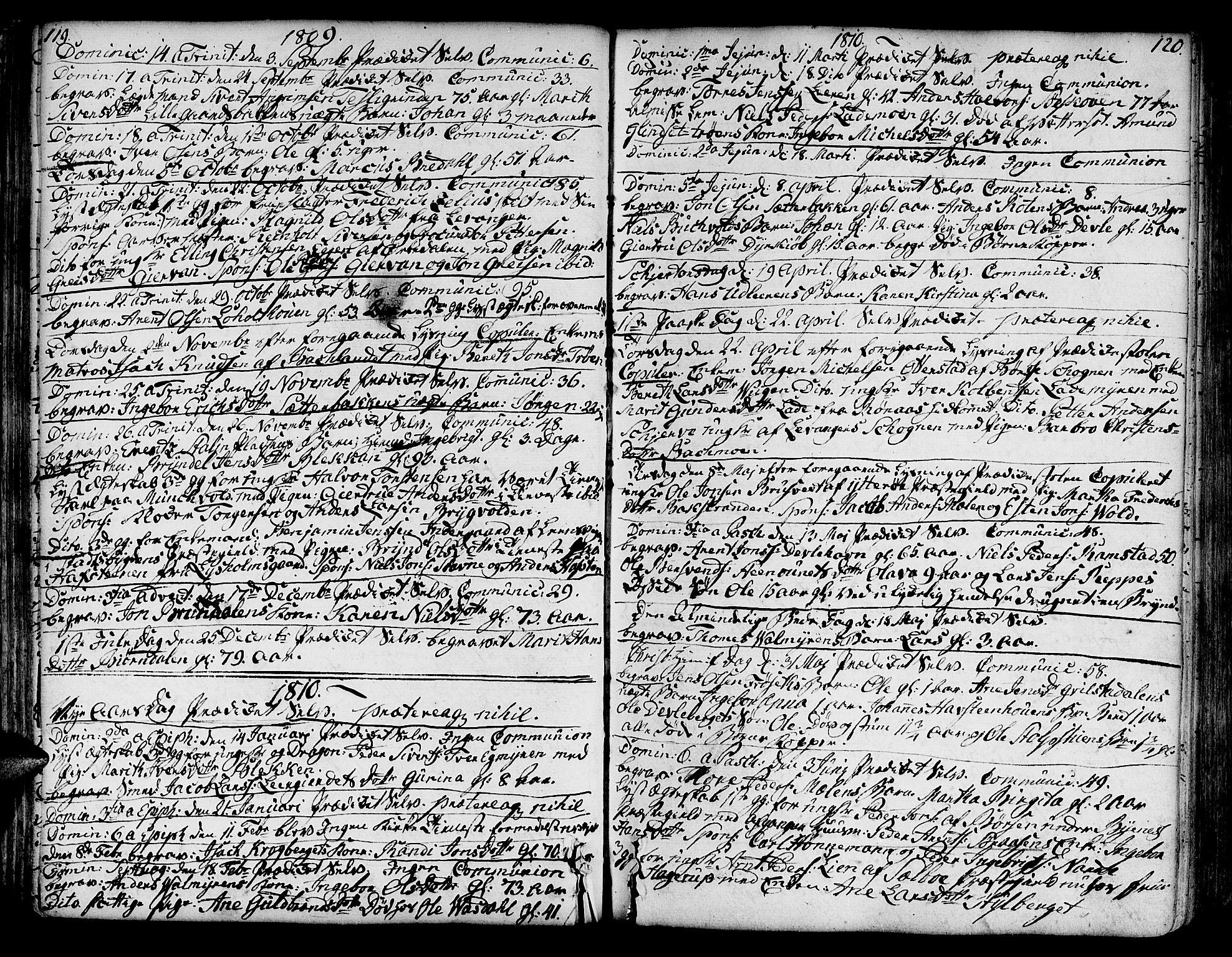 SAT, Ministerialprotokoller, klokkerbøker og fødselsregistre - Sør-Trøndelag, 606/L0280: Ministerialbok nr. 606A02 /1, 1781-1817, s. 119-120