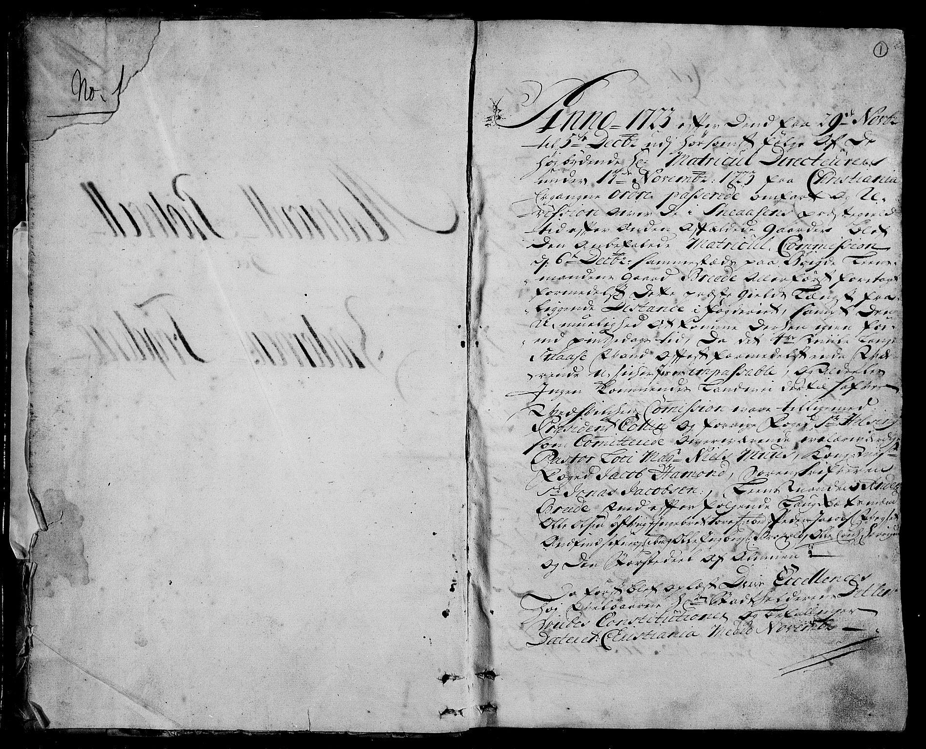 RA, Rentekammeret inntil 1814, Realistisk ordnet avdeling, N/Nb/Nbf/L0166: Inderøy eksaminasjonsprotokoll, 1723, s. 1a