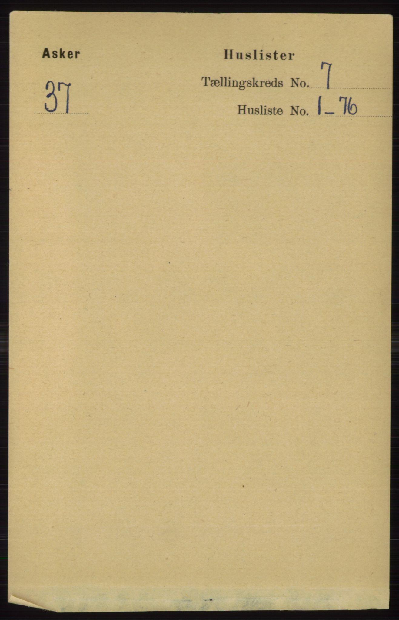 RA, Folketelling 1891 for 0220 Asker herred, 1891, s. 4463