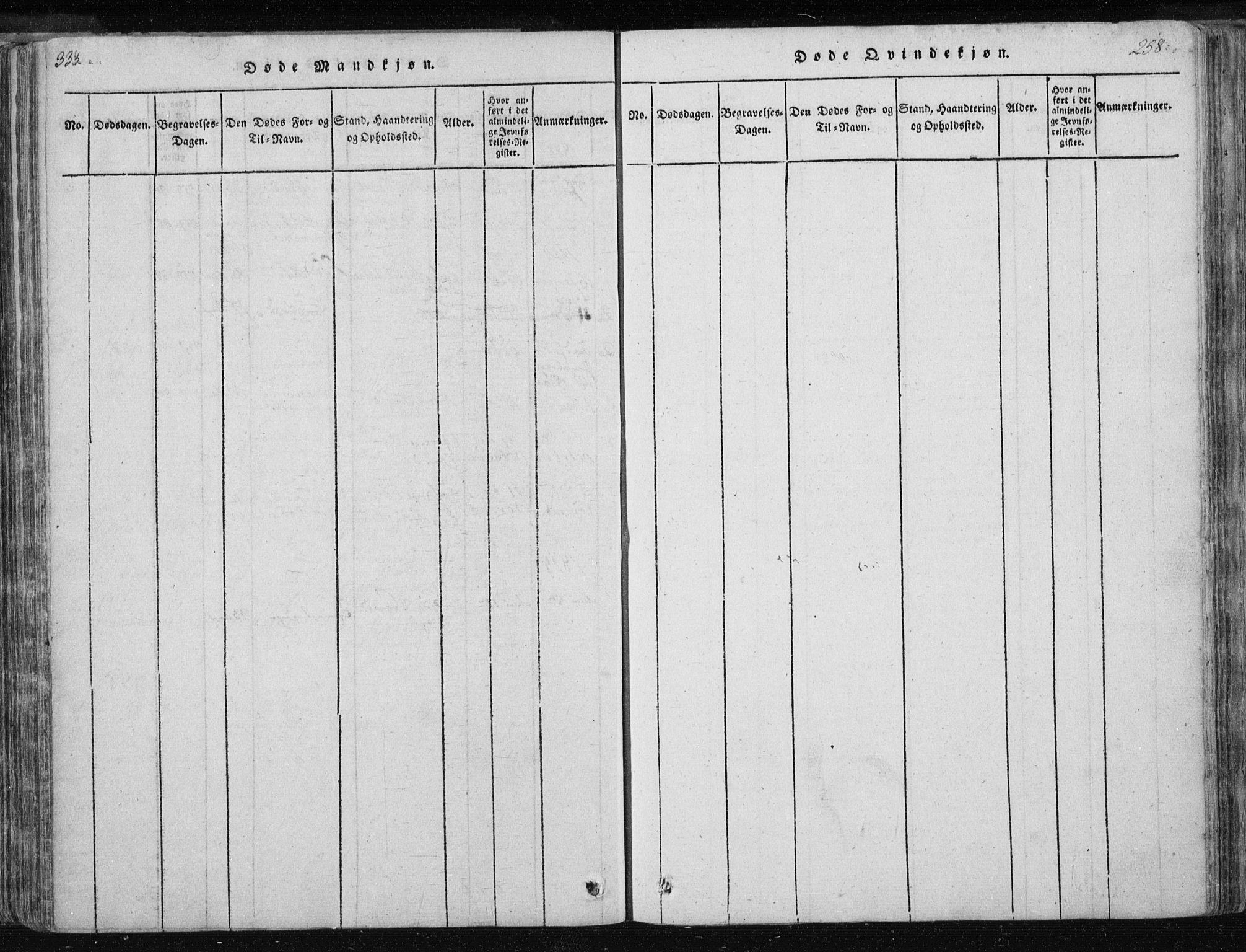 SAT, Ministerialprotokoller, klokkerbøker og fødselsregistre - Nord-Trøndelag, 717/L0148: Ministerialbok nr. 717A04 /3, 1816-1825, s. 333-334