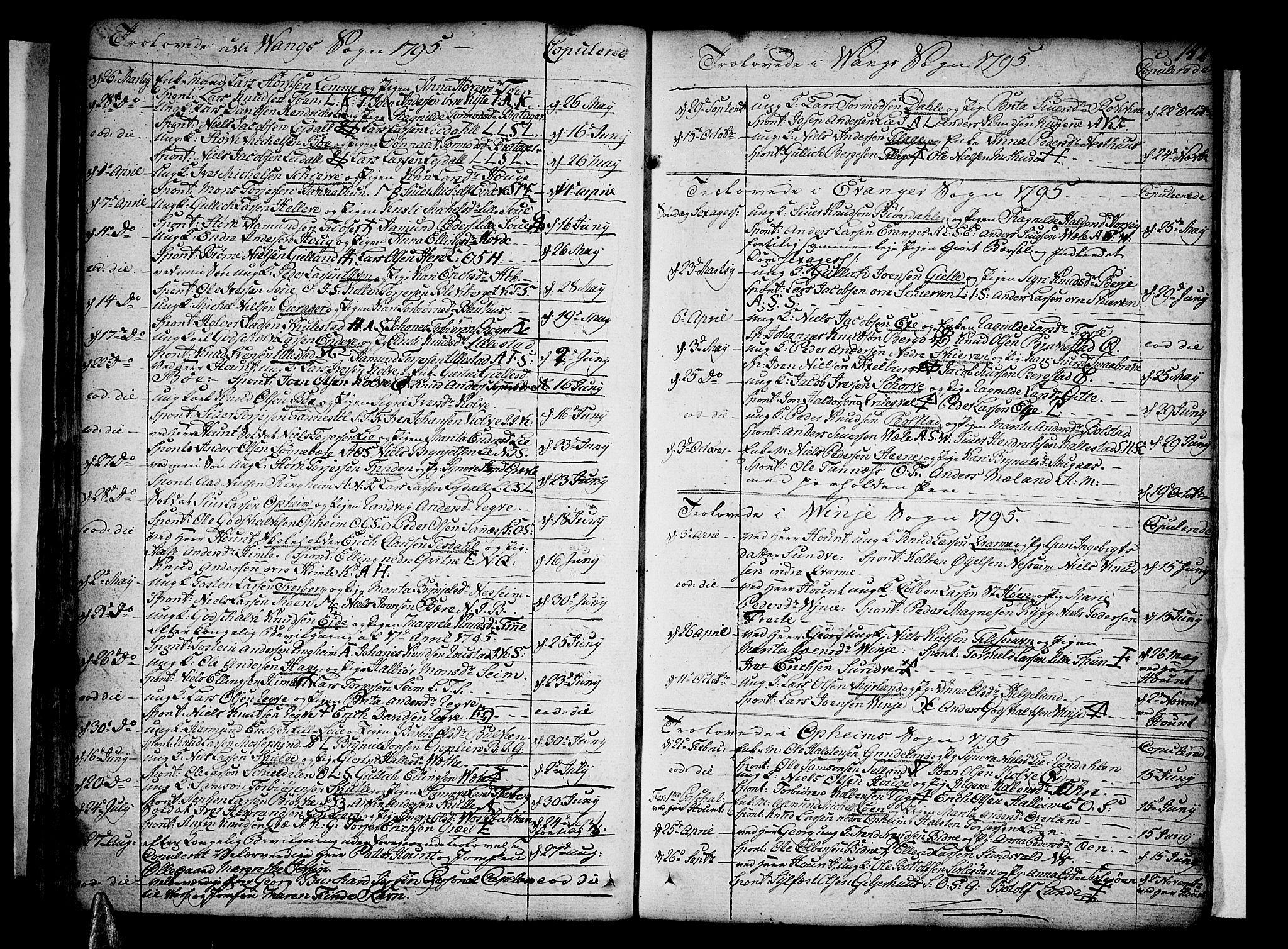 SAB, Voss Sokneprestembete, H/Haa: Ministerialbok nr. A 9, 1780-1810, s. 142