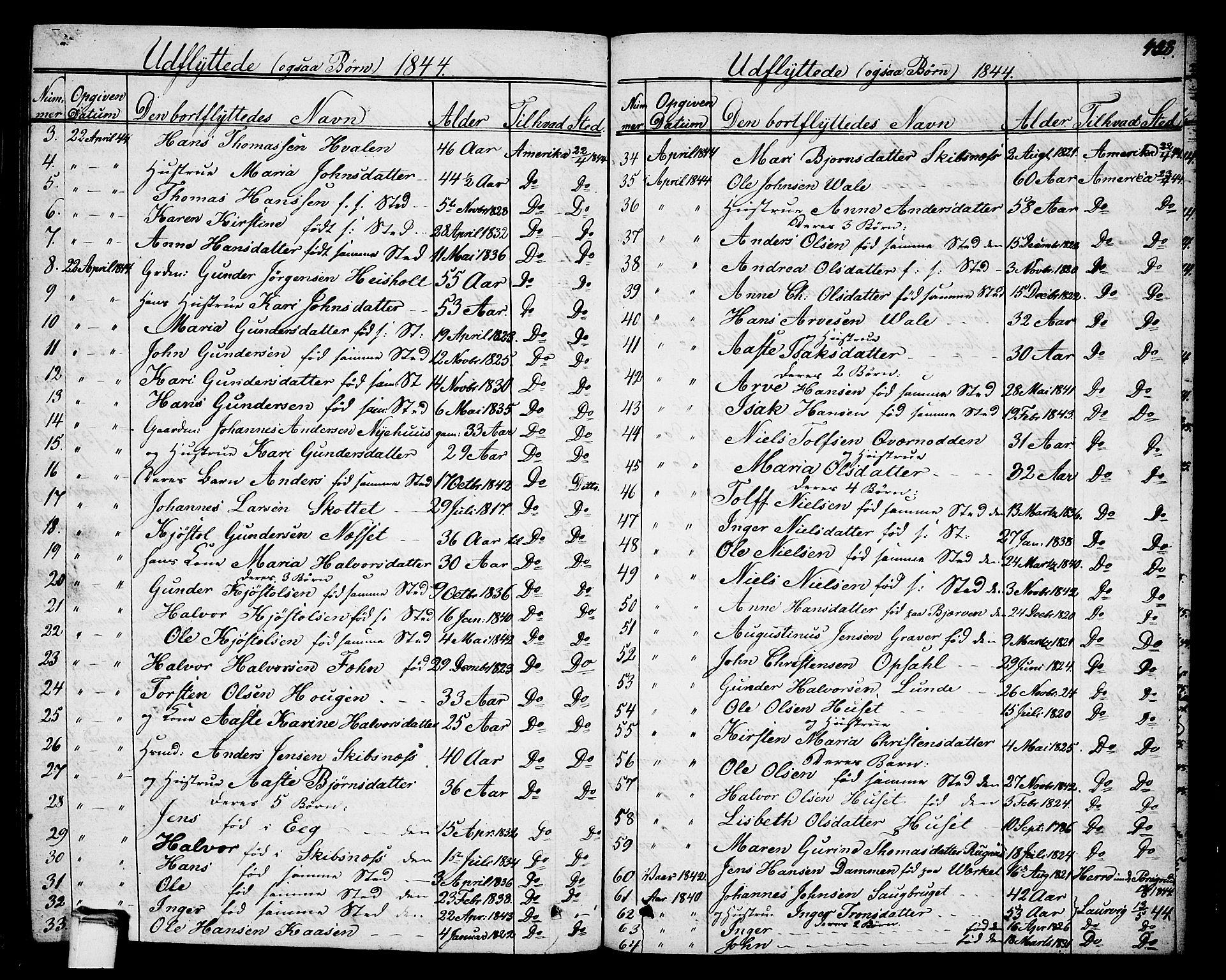SAKO, Holla kirkebøker, G/Ga/L0002: Klokkerbok nr. I 2, 1830-1848, s. 438