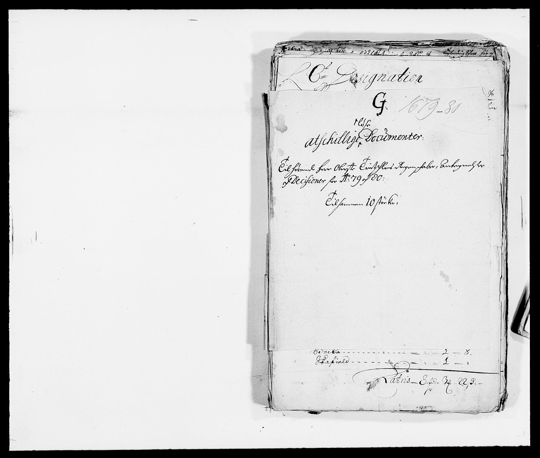 RA, Rentekammeret inntil 1814, Reviderte regnskaper, Fogderegnskap, R32/L1849: Fogderegnskap Jarlsberg grevskap, 1679-1680, s. 186