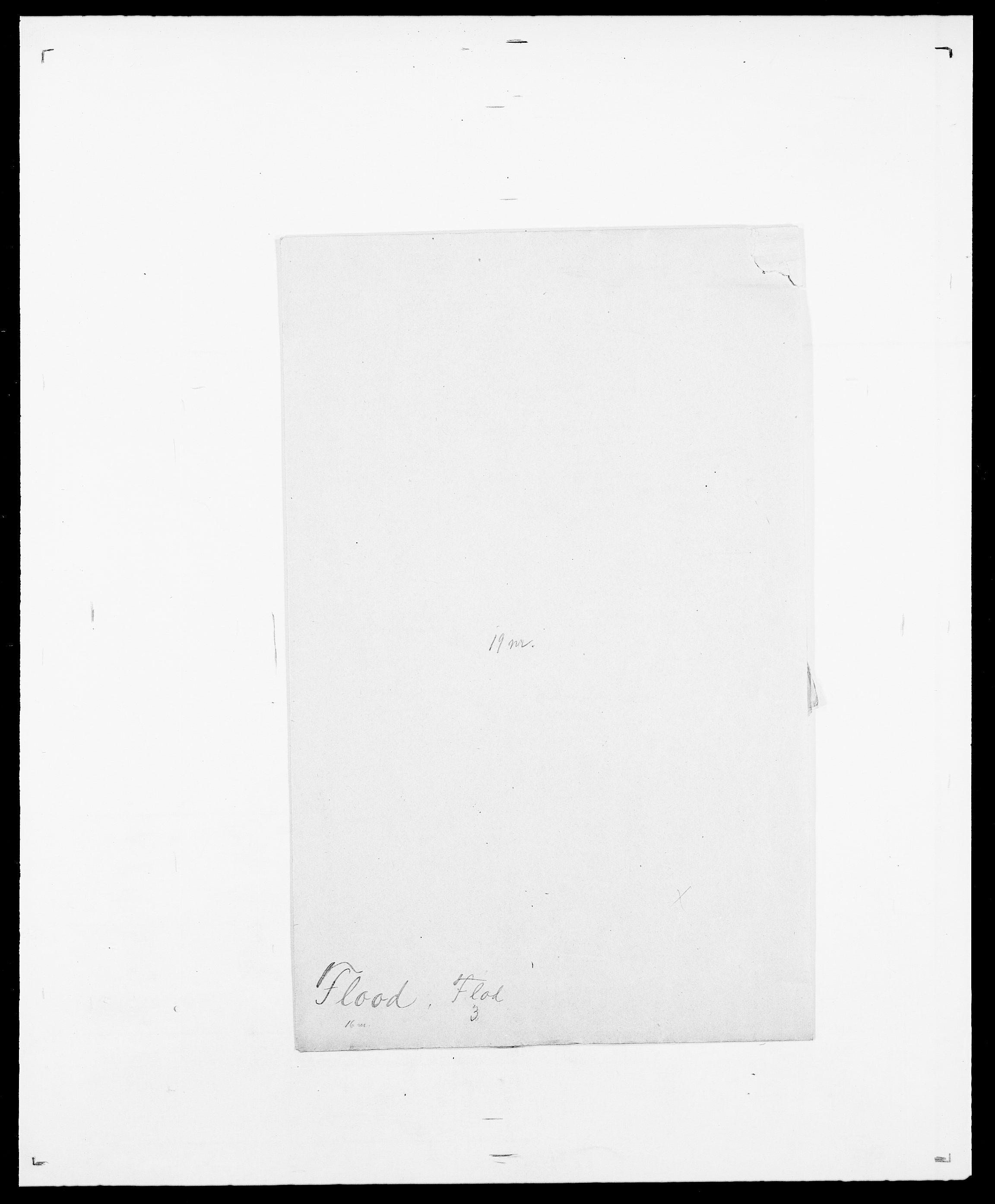 SAO, Delgobe, Charles Antoine - samling, D/Da/L0011: Fahlander - Flood, Flod, s. 687