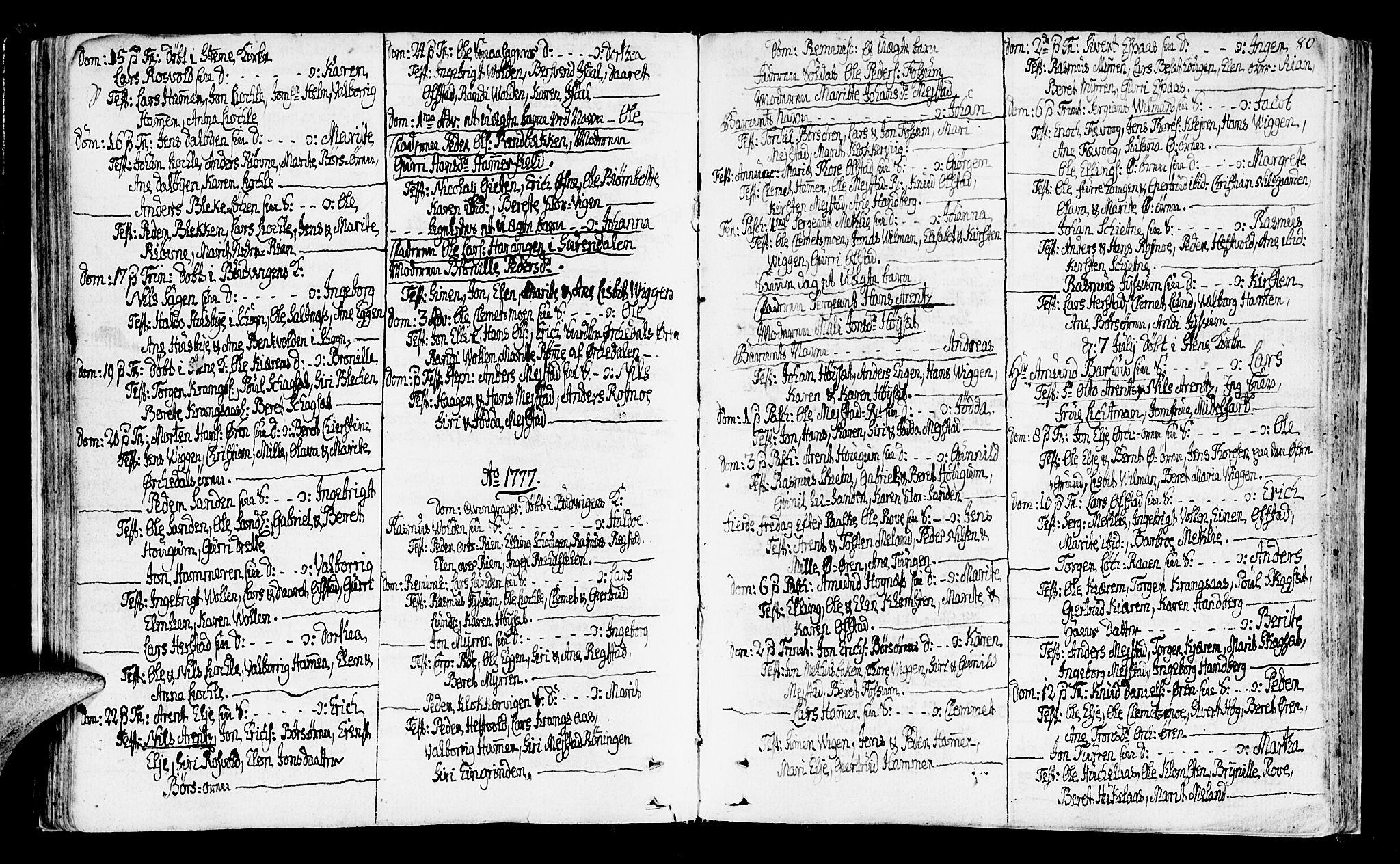 SAT, Ministerialprotokoller, klokkerbøker og fødselsregistre - Sør-Trøndelag, 665/L0768: Ministerialbok nr. 665A03, 1754-1803, s. 80