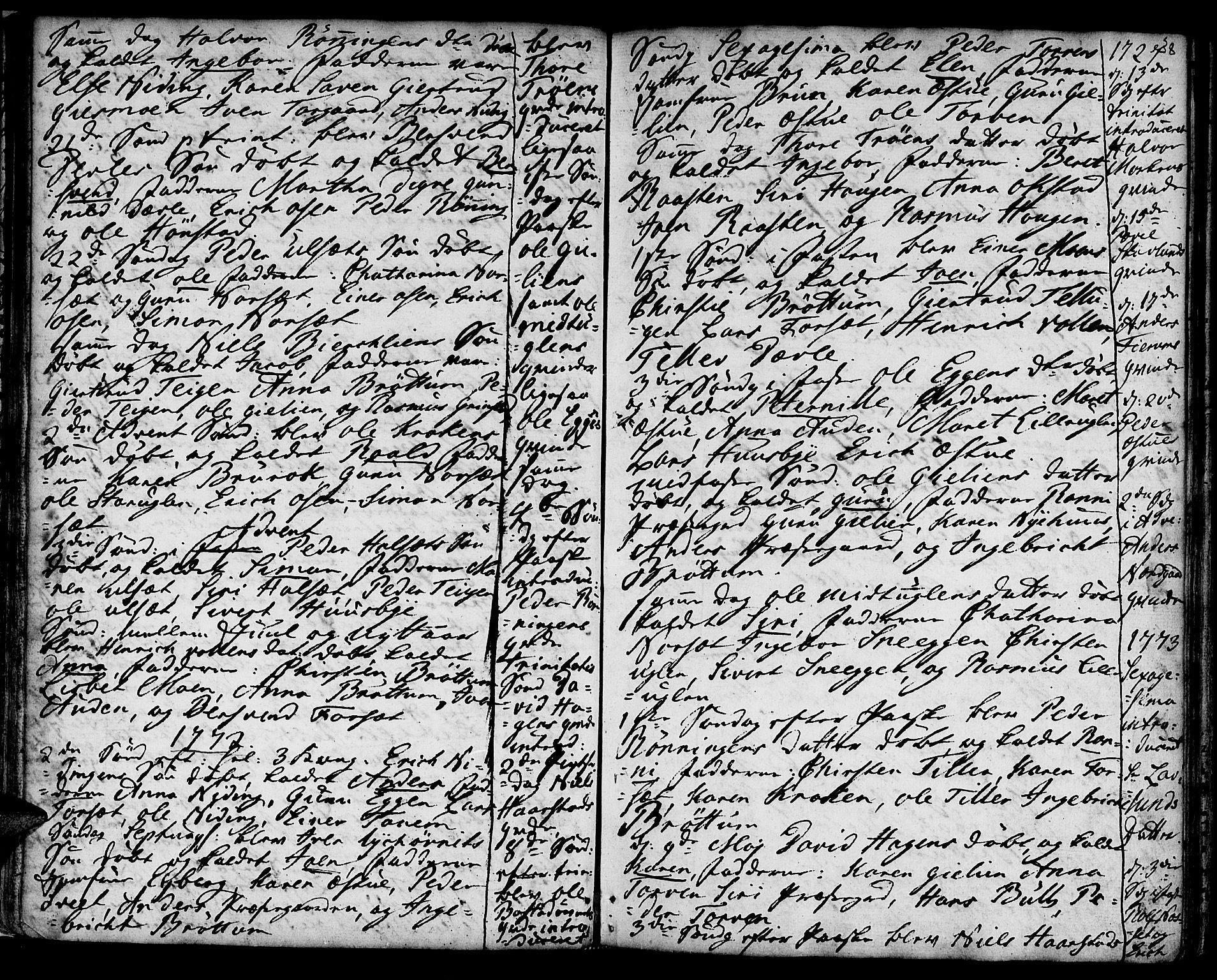 SAT, Ministerialprotokoller, klokkerbøker og fødselsregistre - Sør-Trøndelag, 618/L0437: Ministerialbok nr. 618A02, 1749-1782, s. 38