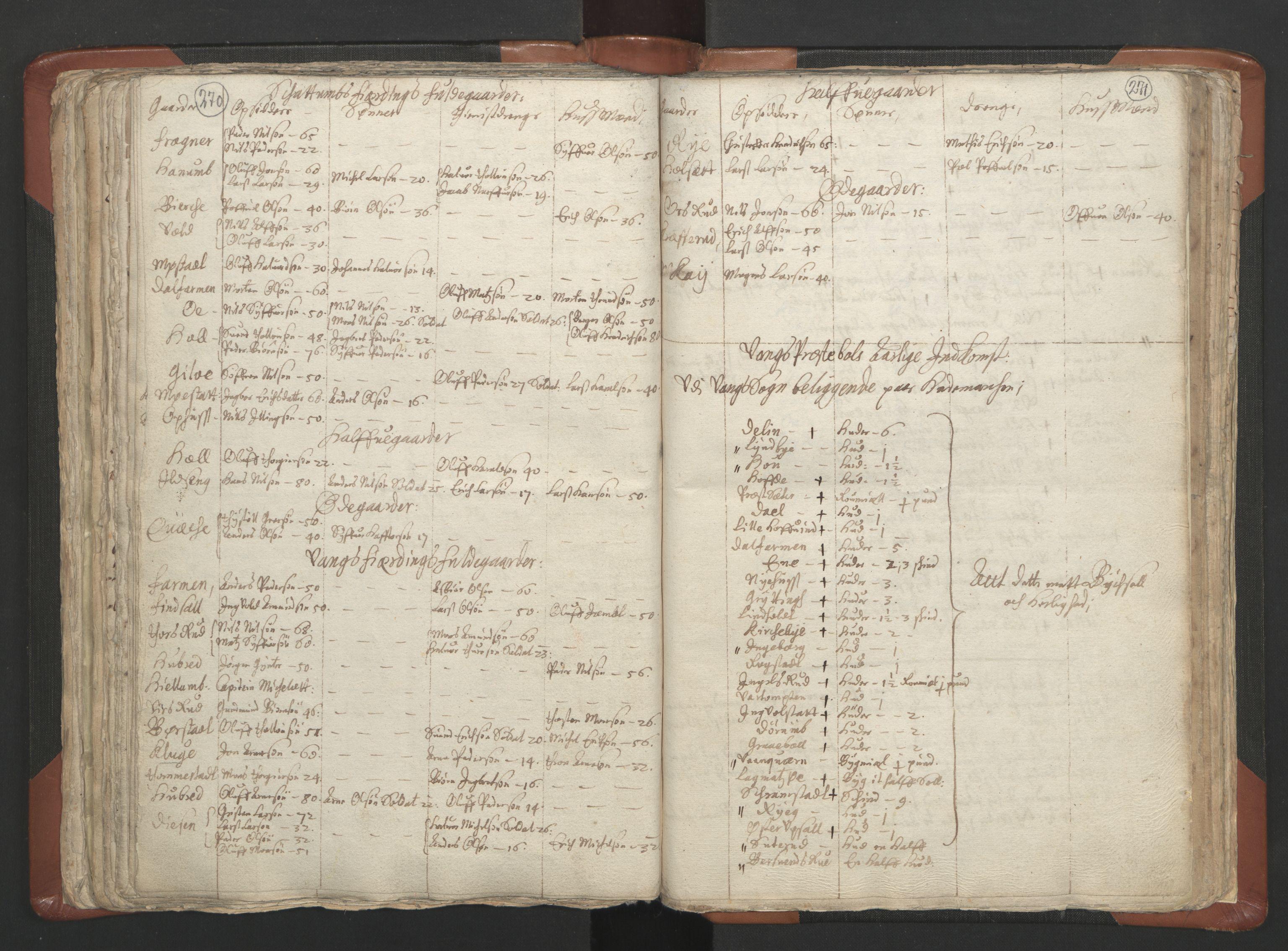RA, Sogneprestenes manntall 1664-1666, nr. 5: Hedmark prosti, 1664-1666, s. 270-271